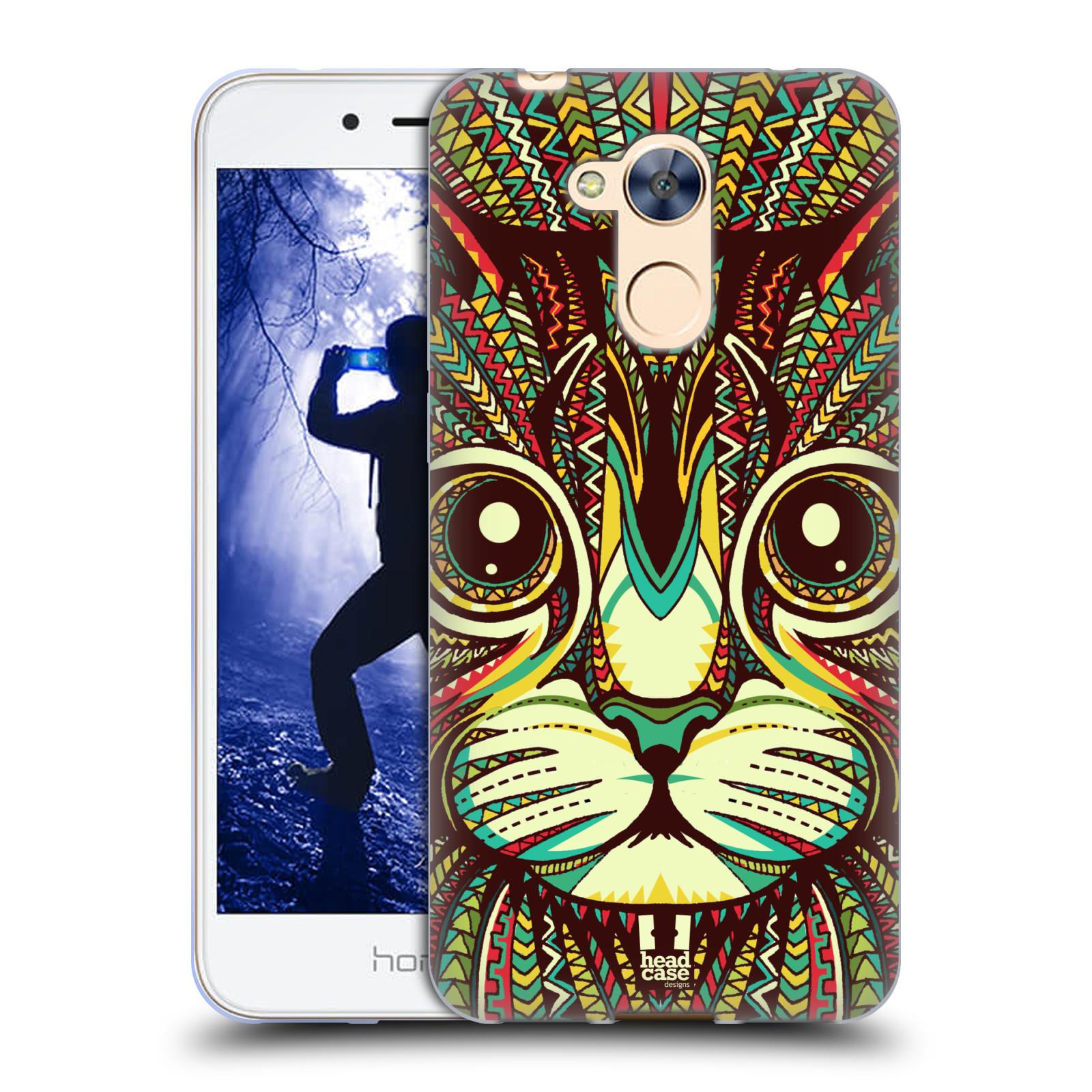 Silikonové pouzdro na mobil Honor 6A - Head Case - AZTEC KOČKA