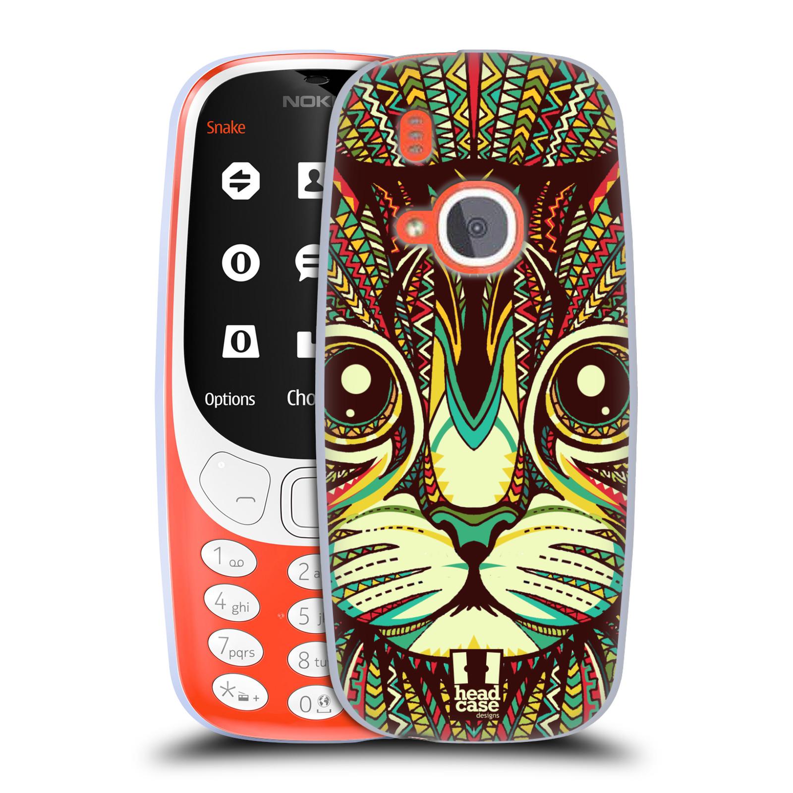 Silikonové pouzdro na mobil Nokia 3310 - Head Case - AZTEC KOČKA