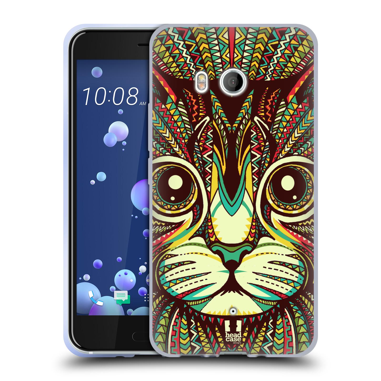 Silikonové pouzdro na mobil HTC U11 - Head Case - AZTEC KOČKA