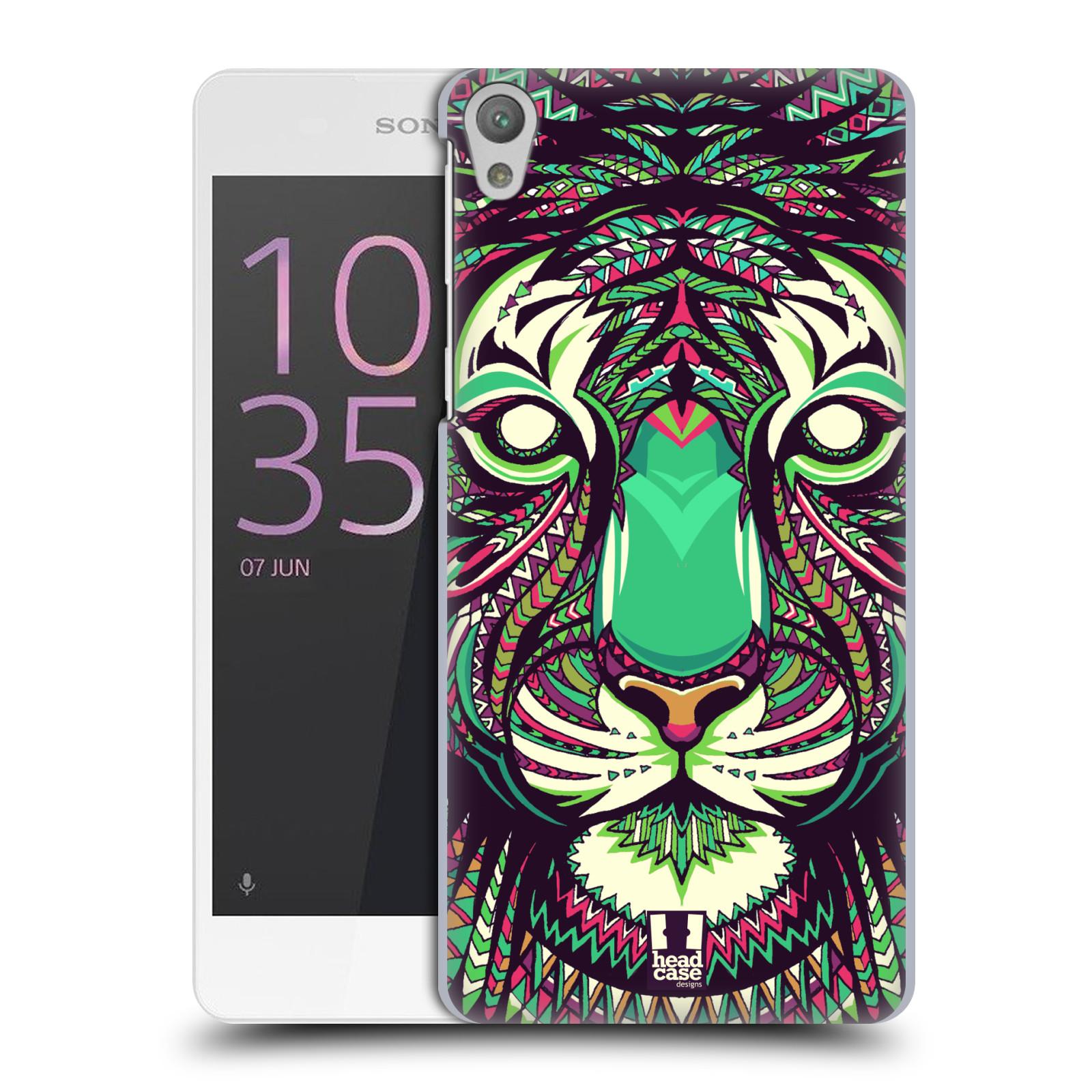 Plastové pouzdro na mobil Sony Xperia E5 HEAD CASE AZTEC TYGR