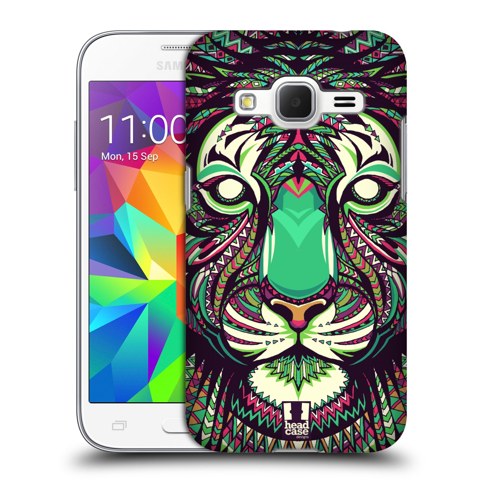 Plastové pouzdro na mobil Samsung Galaxy Core Prime VE HEAD CASE AZTEC TYGR (Kryt či obal na mobilní telefon Samsung Galaxy Core Prime LTE VE SM-G361F)