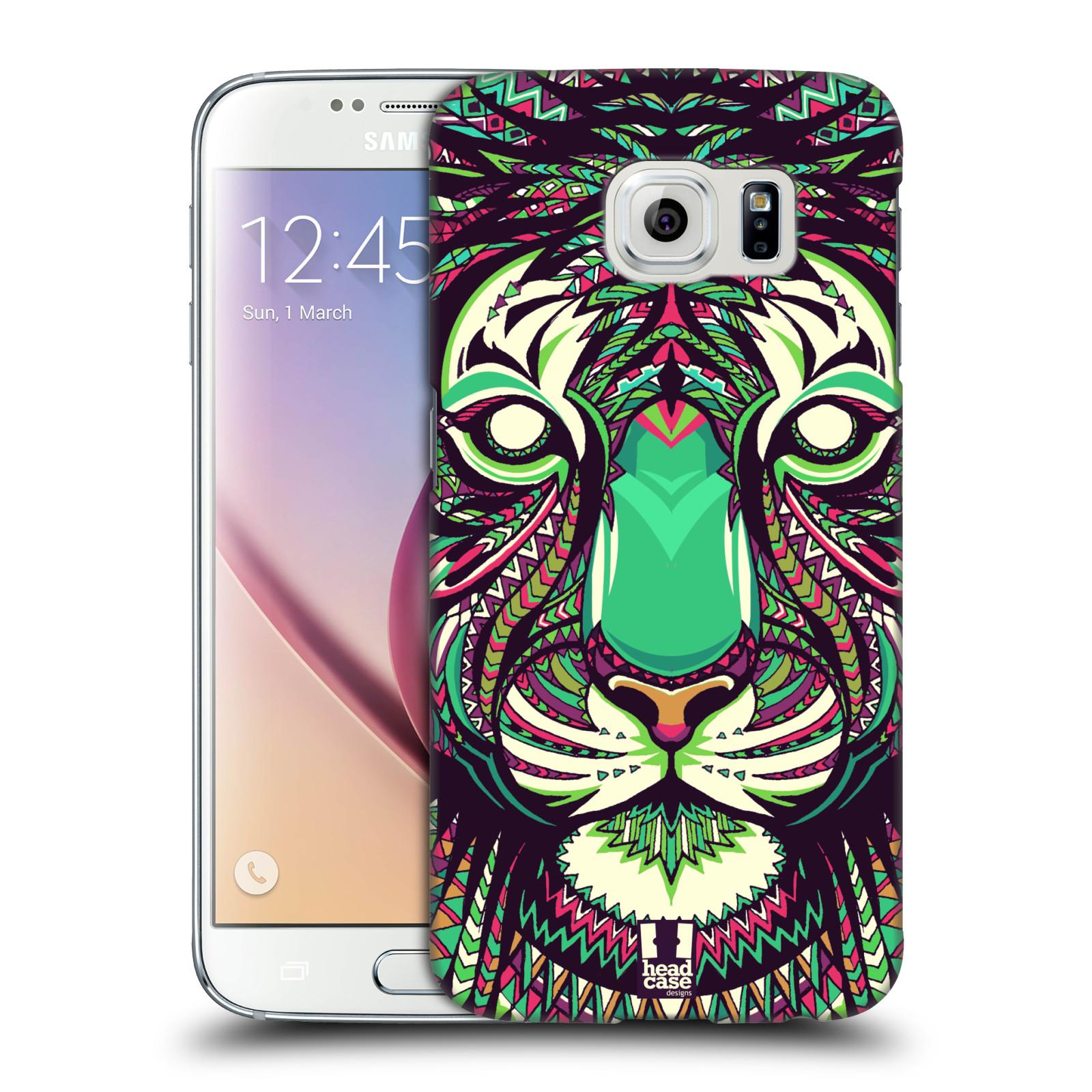 Plastové pouzdro na mobil Samsung Galaxy S6 HEAD CASE AZTEC TYGR