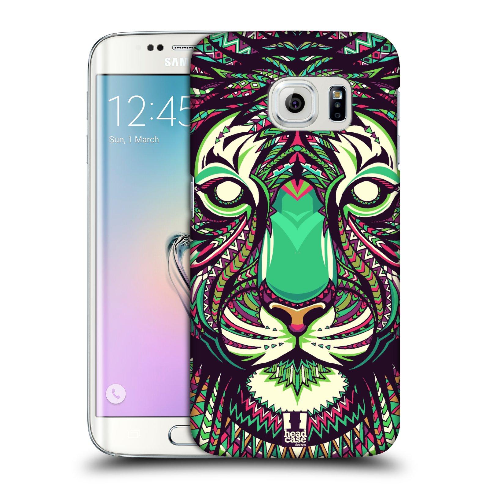 Plastové pouzdro na mobil Samsung Galaxy S6 Edge HEAD CASE AZTEC TYGR (Kryt či obal na mobilní telefon Samsung Galaxy S6 Edge SM-G925F)