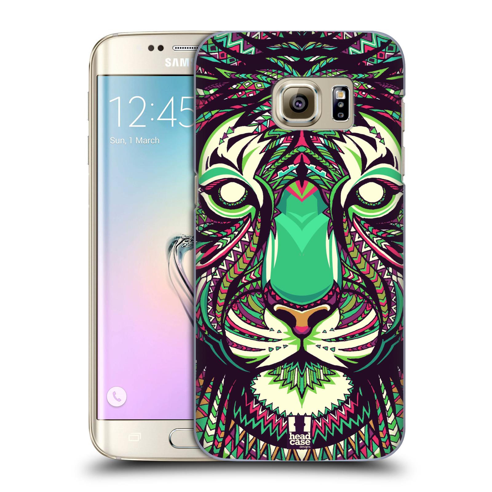 Plastové pouzdro na mobil Samsung Galaxy S7 Edge HEAD CASE AZTEC TYGR