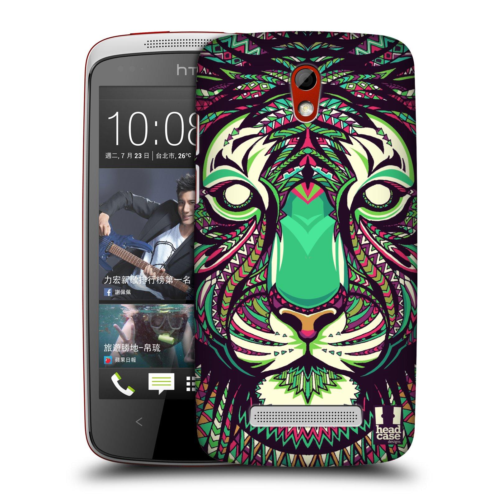 Plastové pouzdro na mobil HTC Desire 500 HEAD CASE AZTEC TYGR (Kryt či obal na mobilní telefon HTC Desire 500)