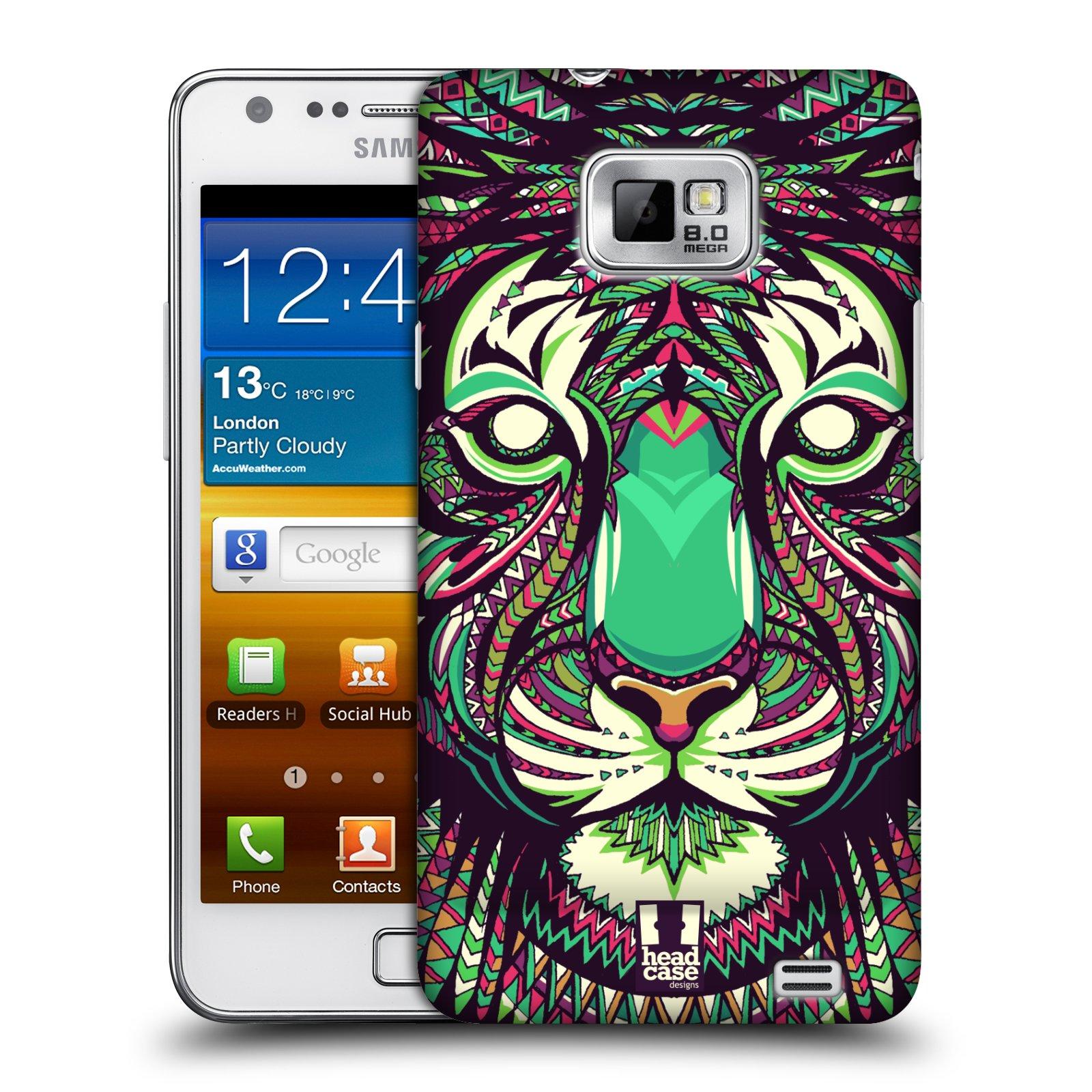 Plastové pouzdro na mobil Samsung Galaxy S II HEAD CASE AZTEC TYGR (Kryt či obal na mobilní telefon Samsung Galaxy S II GT-i9100)