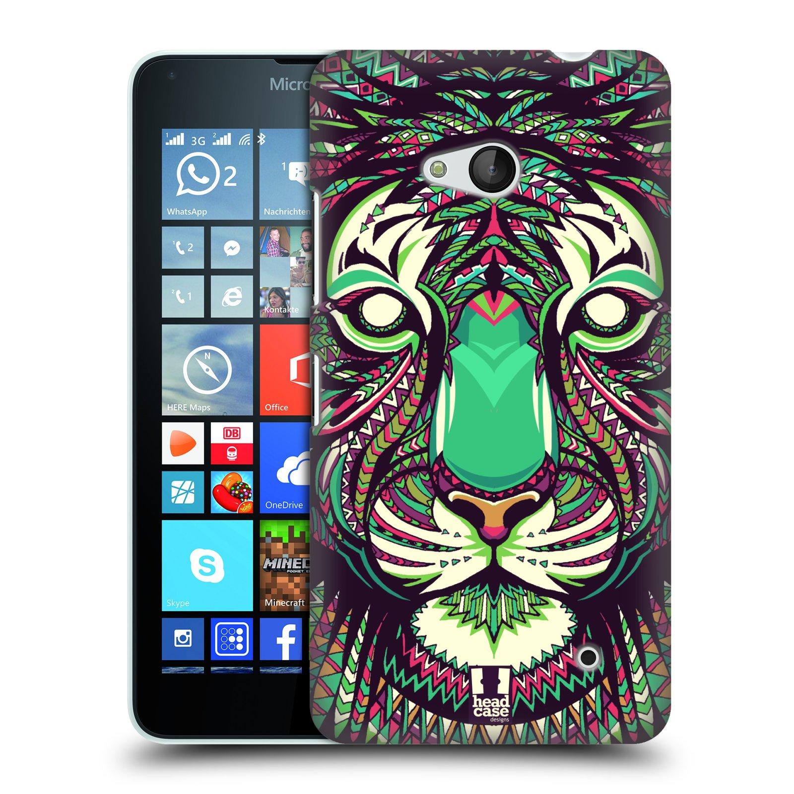 Plastové pouzdro na mobil Microsoft Lumia 640 HEAD CASE AZTEC TYGR