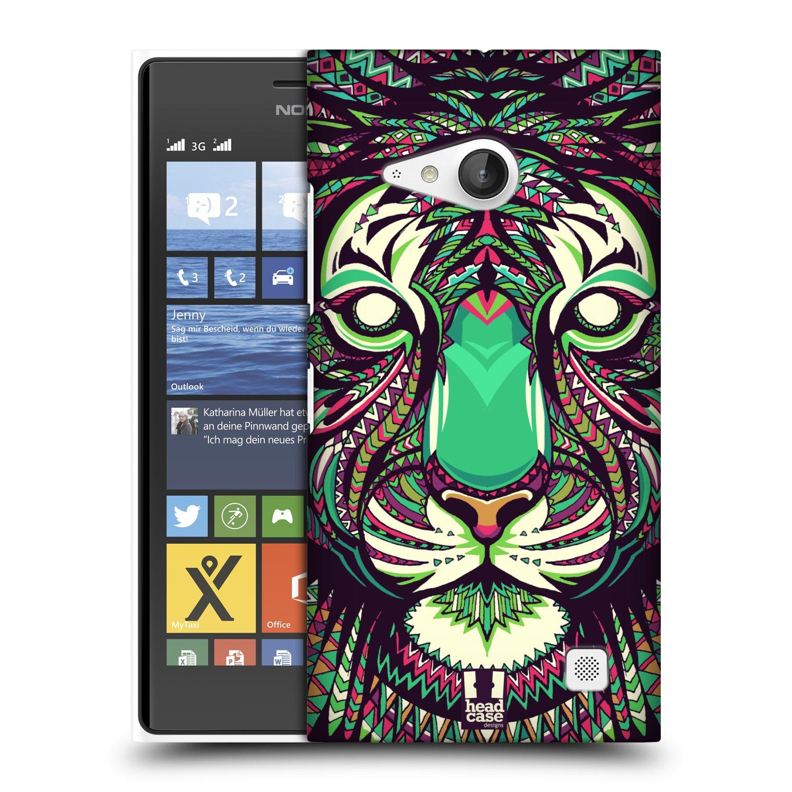 Plastové pouzdro na mobil Nokia Lumia 735 HEAD CASE AZTEC TYGR
