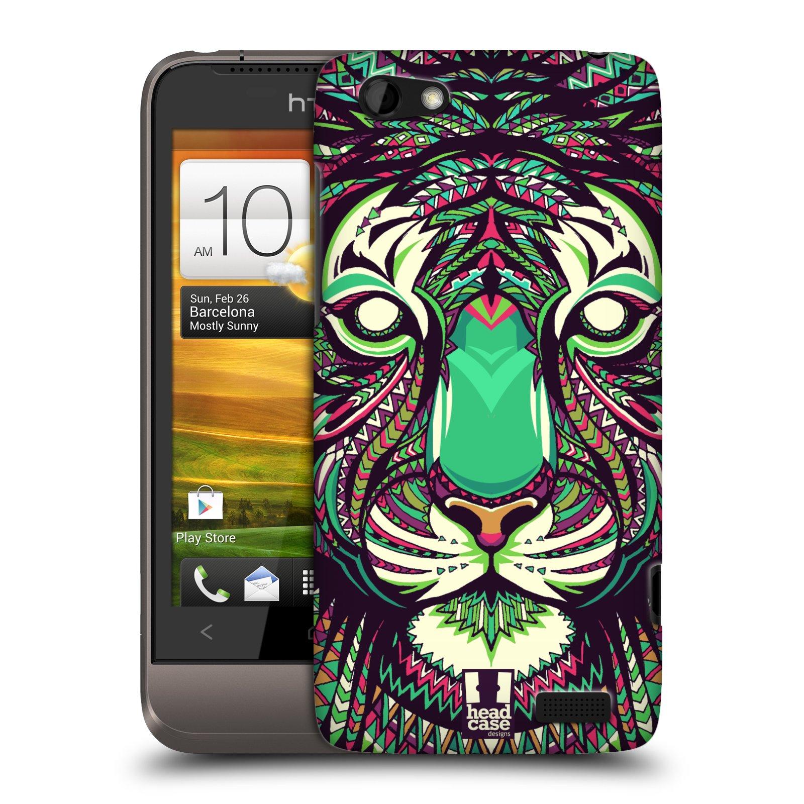 Plastové pouzdro na mobil HTC ONE V HEAD CASE AZTEC TYGR (Kryt či obal na mobilní telefon HTC ONE V)