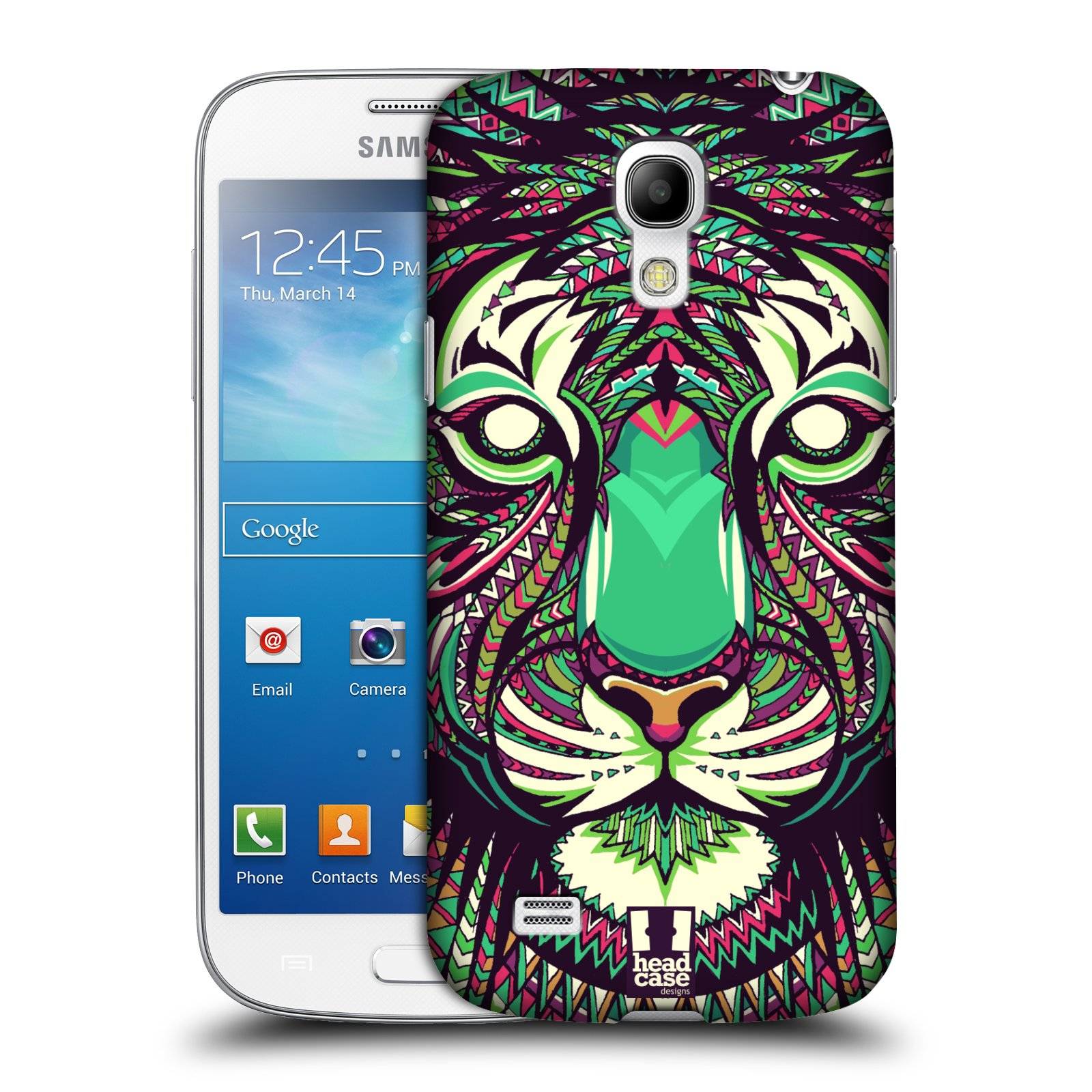 Plastové pouzdro na mobil Samsung Galaxy S4 Mini HEAD CASE AZTEC TYGR