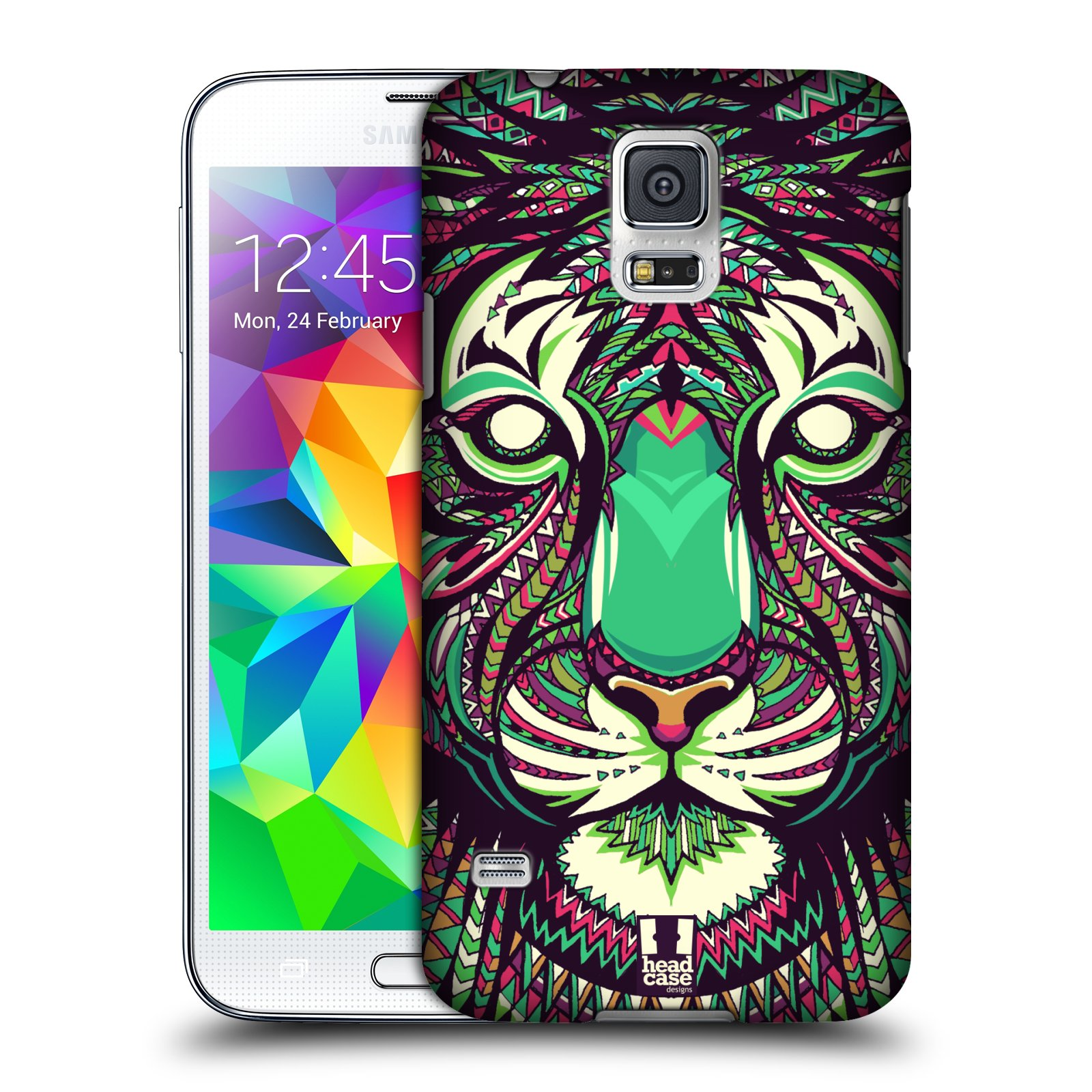 Plastové pouzdro na mobil Samsung Galaxy S5 HEAD CASE AZTEC TYGR