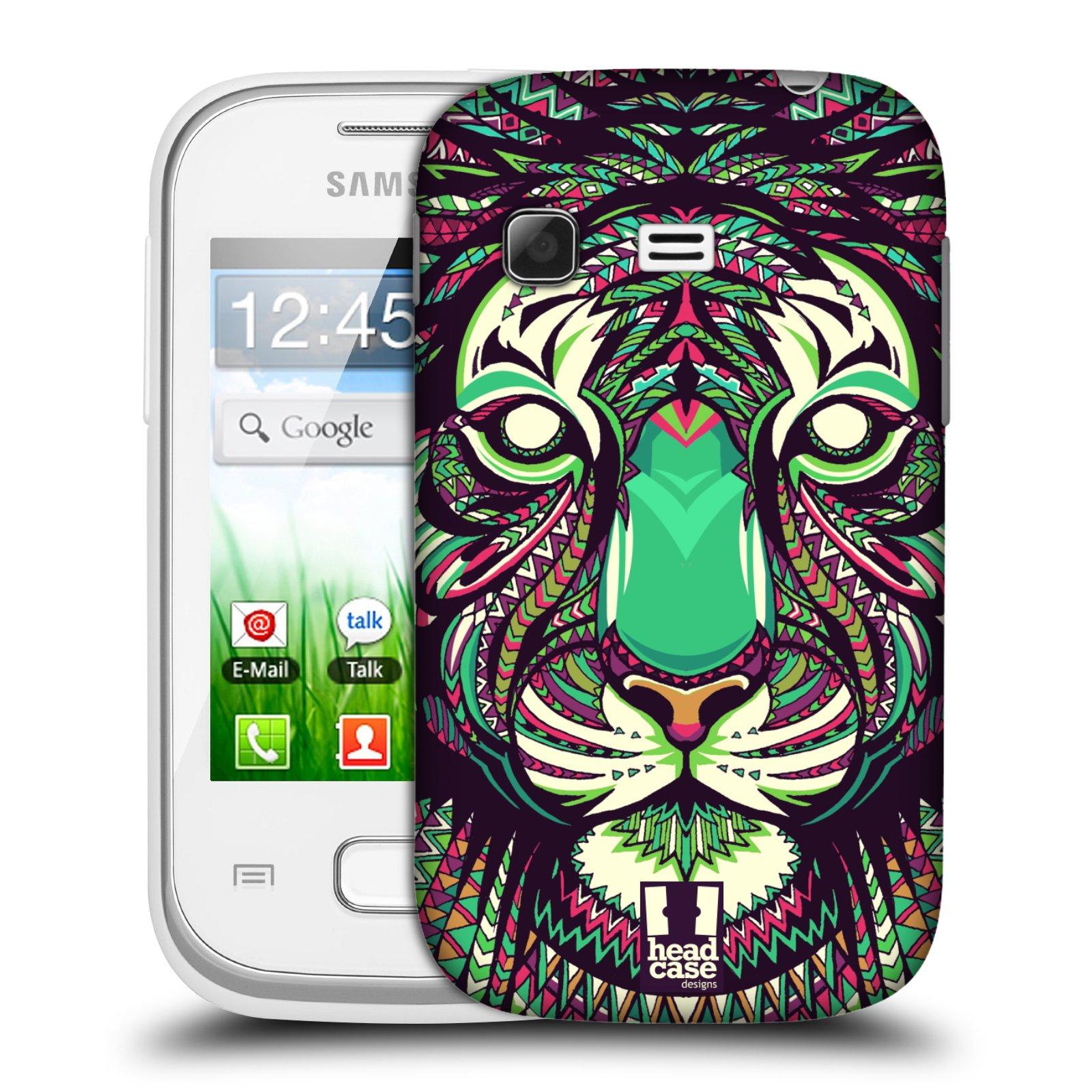 Plastové pouzdro na mobil Samsung Galaxy Pocket HEAD CASE AZTEC TYGR (Kryt či obal na mobilní telefon Samsung Galaxy Pocket GT-S5300)