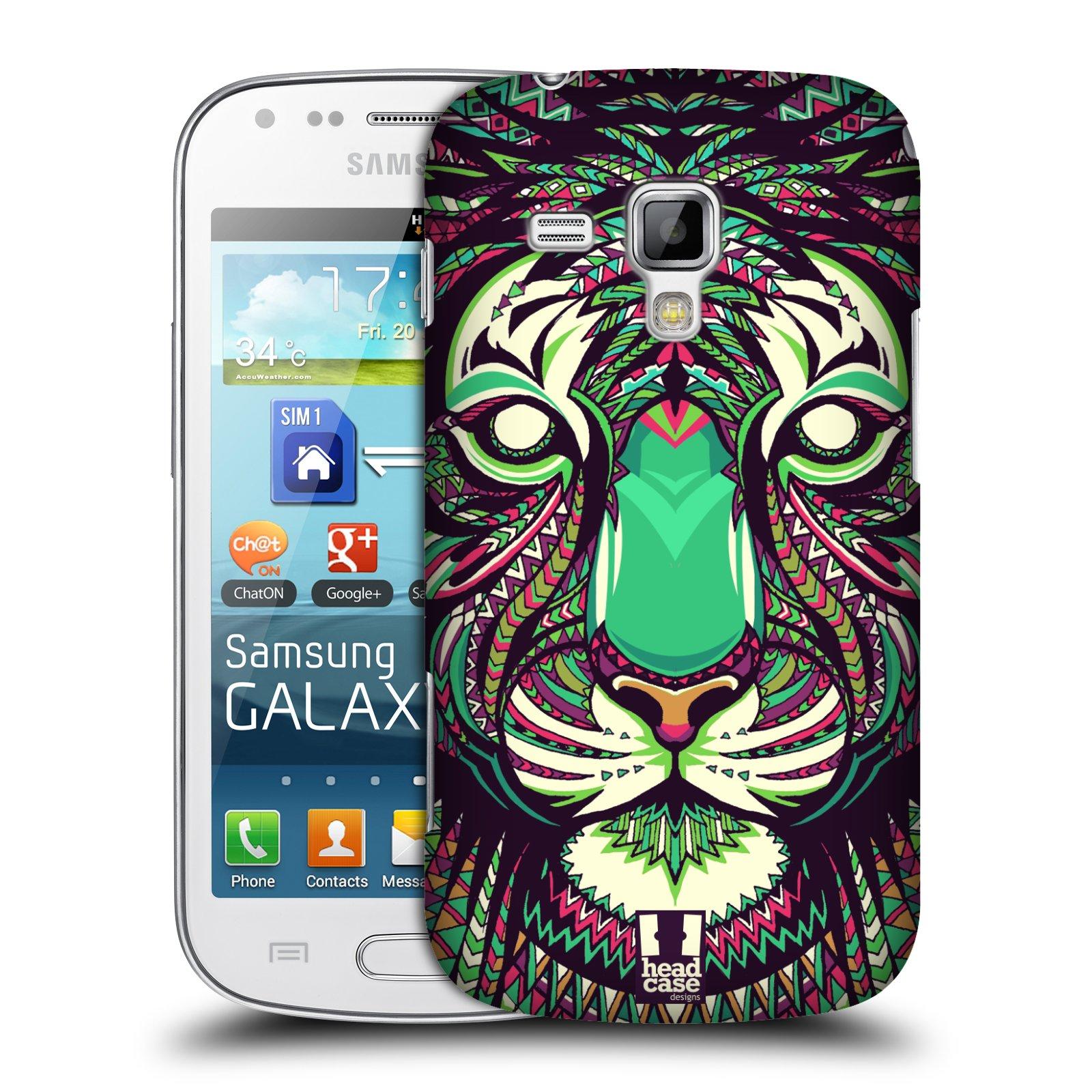 Plastové pouzdro na mobil Samsung Galaxy Trend Plus HEAD CASE AZTEC TYGR