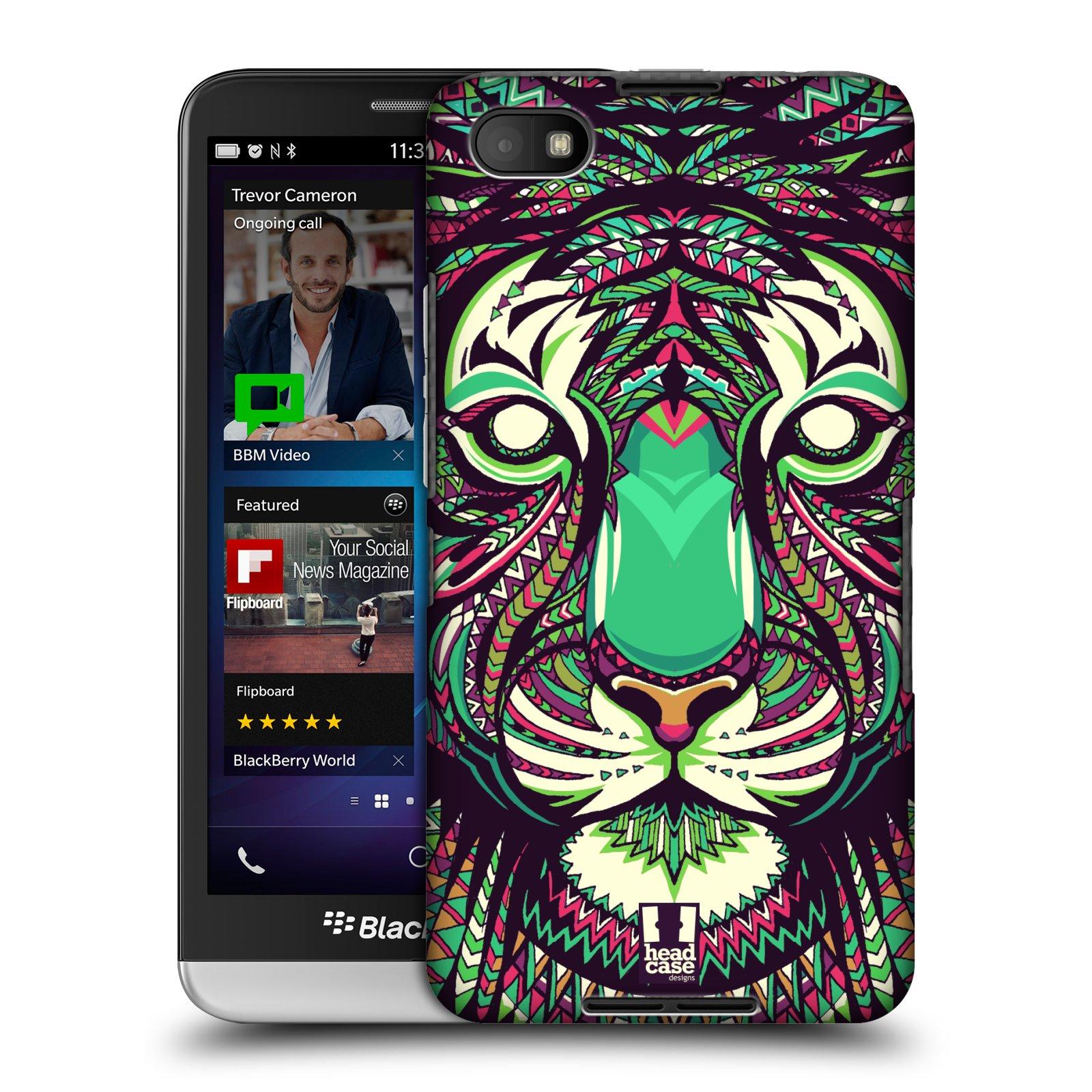 Plastové pouzdro na mobil Blackberry Z30 HEAD CASE AZTEC TYGR (Kryt či obal na mobilní telefon Blackberry Z30)