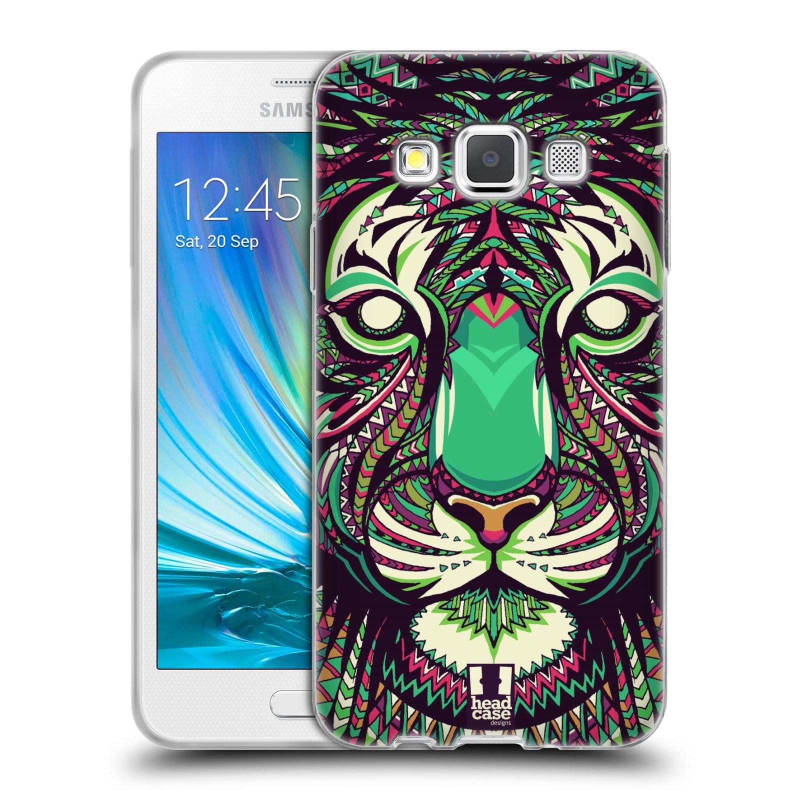 Silikonové pouzdro na mobil Samsung Galaxy A3 HEAD CASE AZTEC TYGR