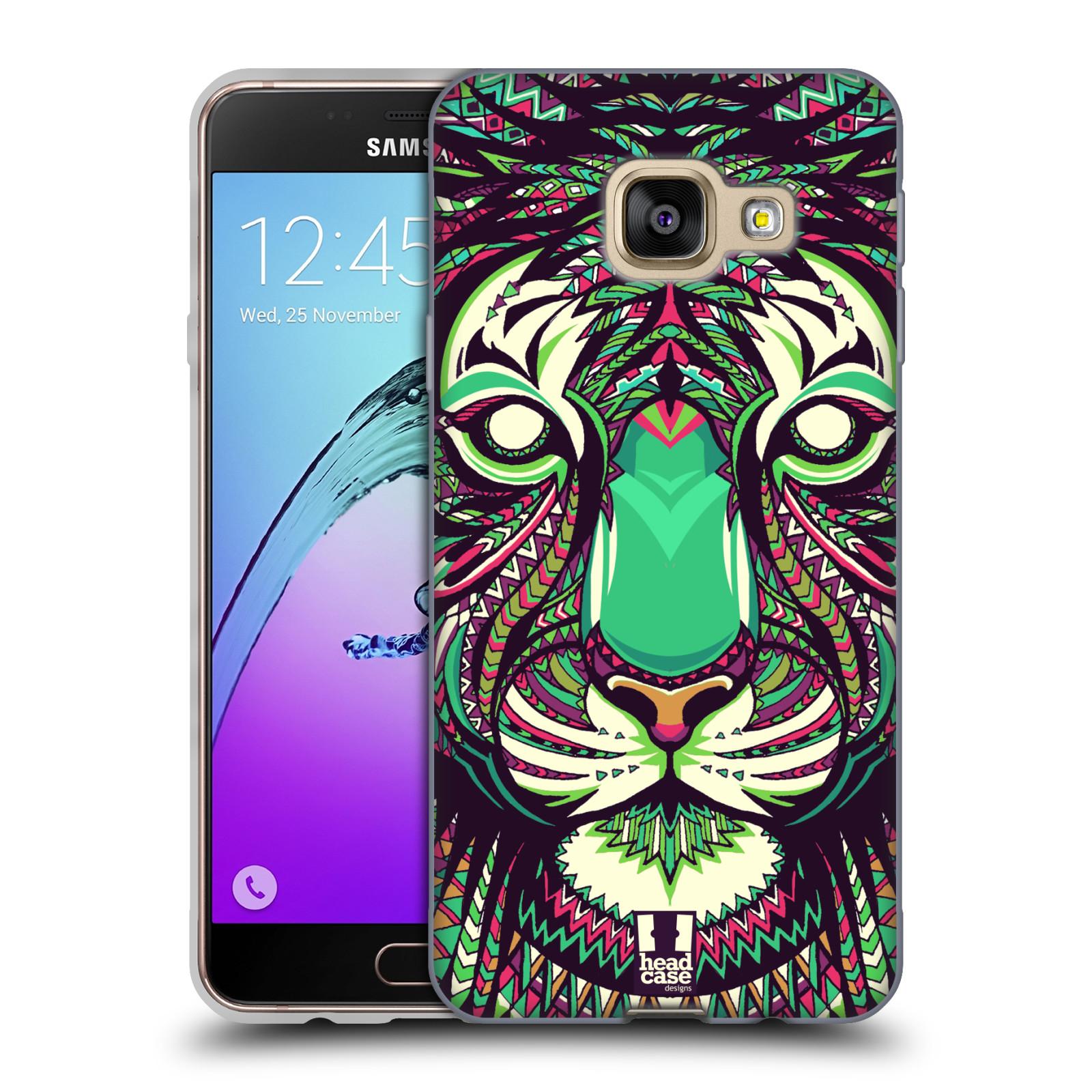 Silikonové pouzdro na mobil Samsung Galaxy A3 (2016) HEAD CASE AZTEC TYGR