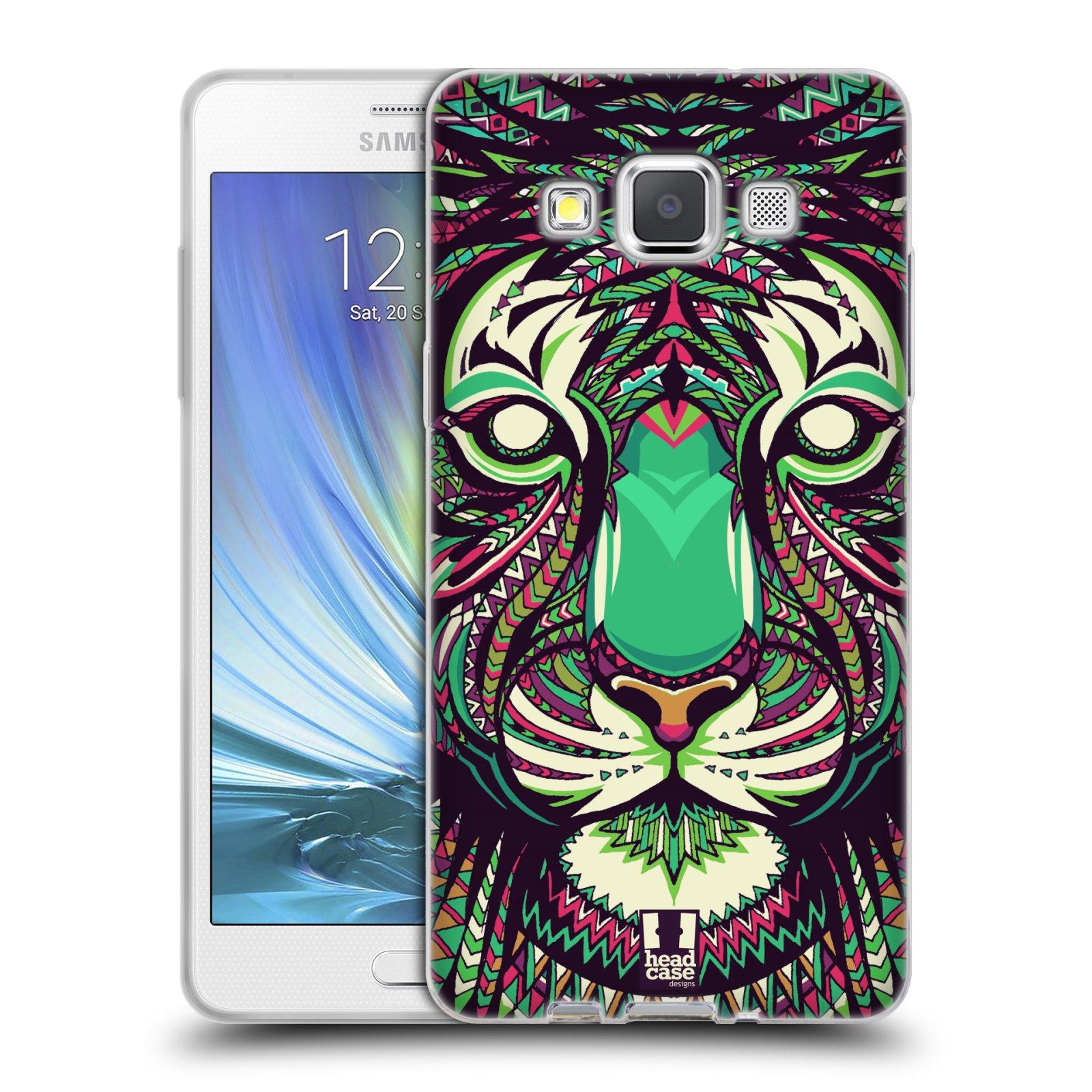 Silikonové pouzdro na mobil Samsung Galaxy A5 HEAD CASE AZTEC TYGR