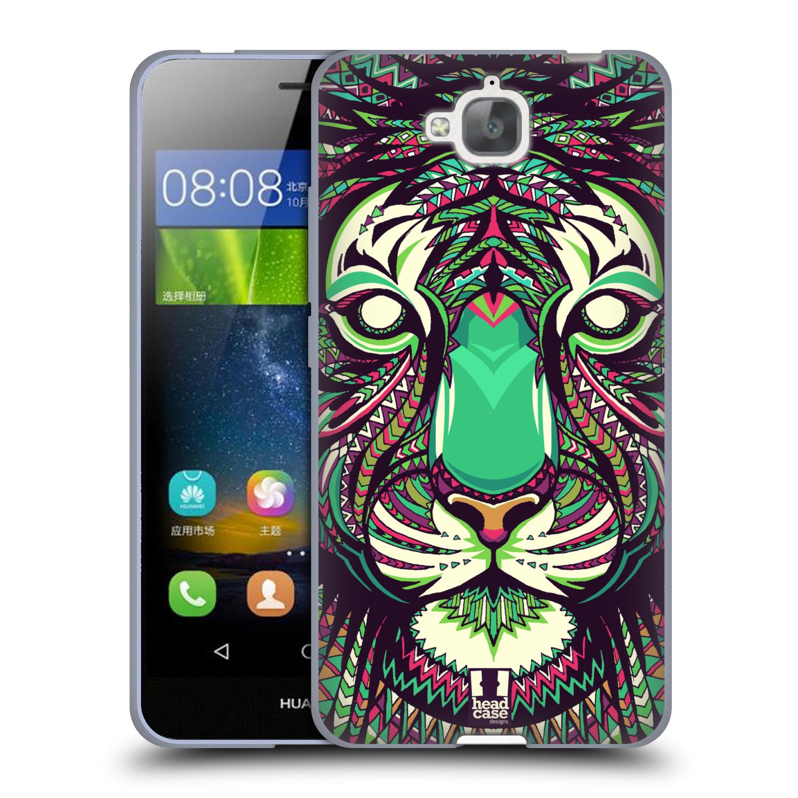 Silikonové pouzdro na mobil Huawei Y6 Pro Dual Sim HEAD CASE AZTEC TYGR