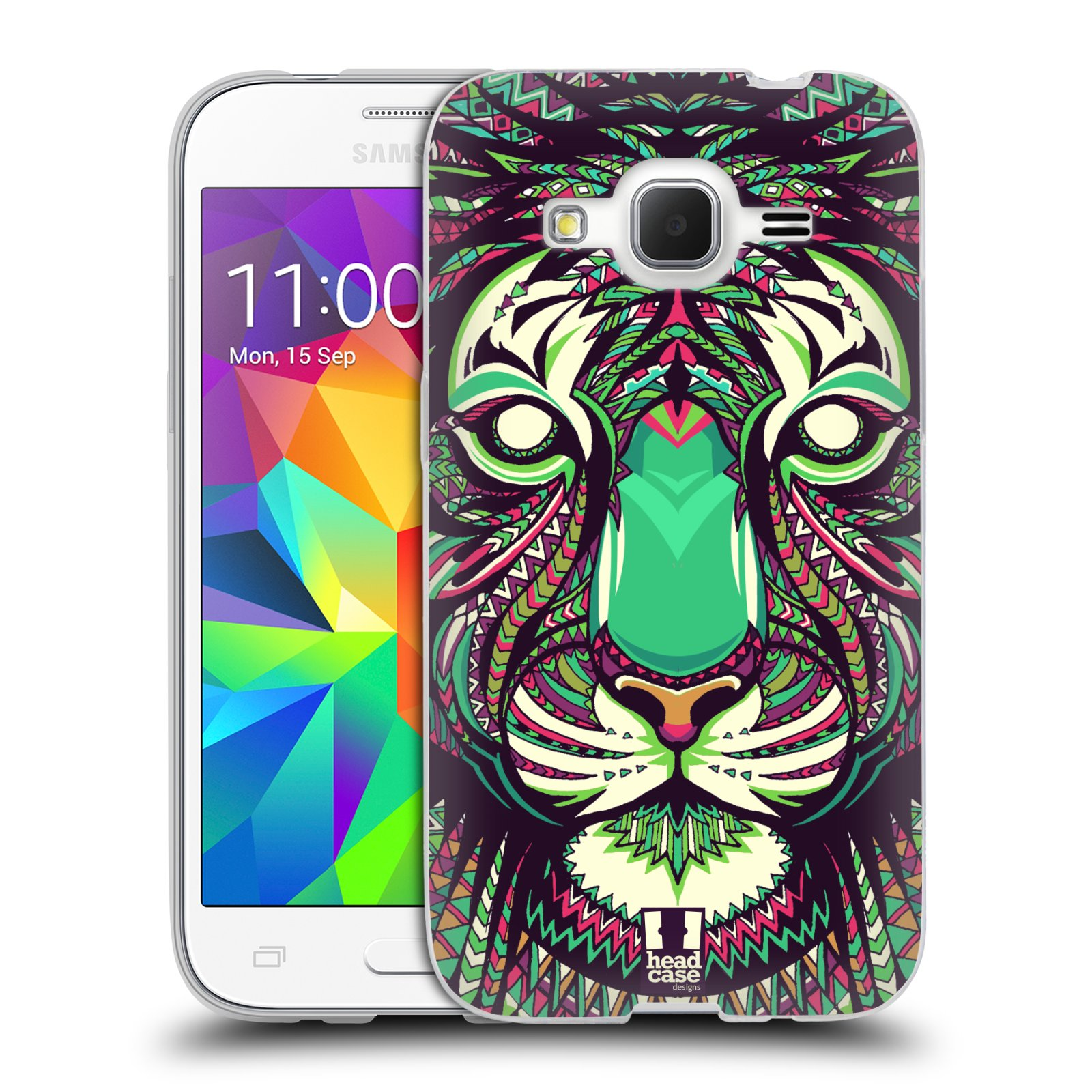 Silikonové pouzdro na mobil Samsung Galaxy Core Prime LTE HEAD CASE AZTEC TYGR