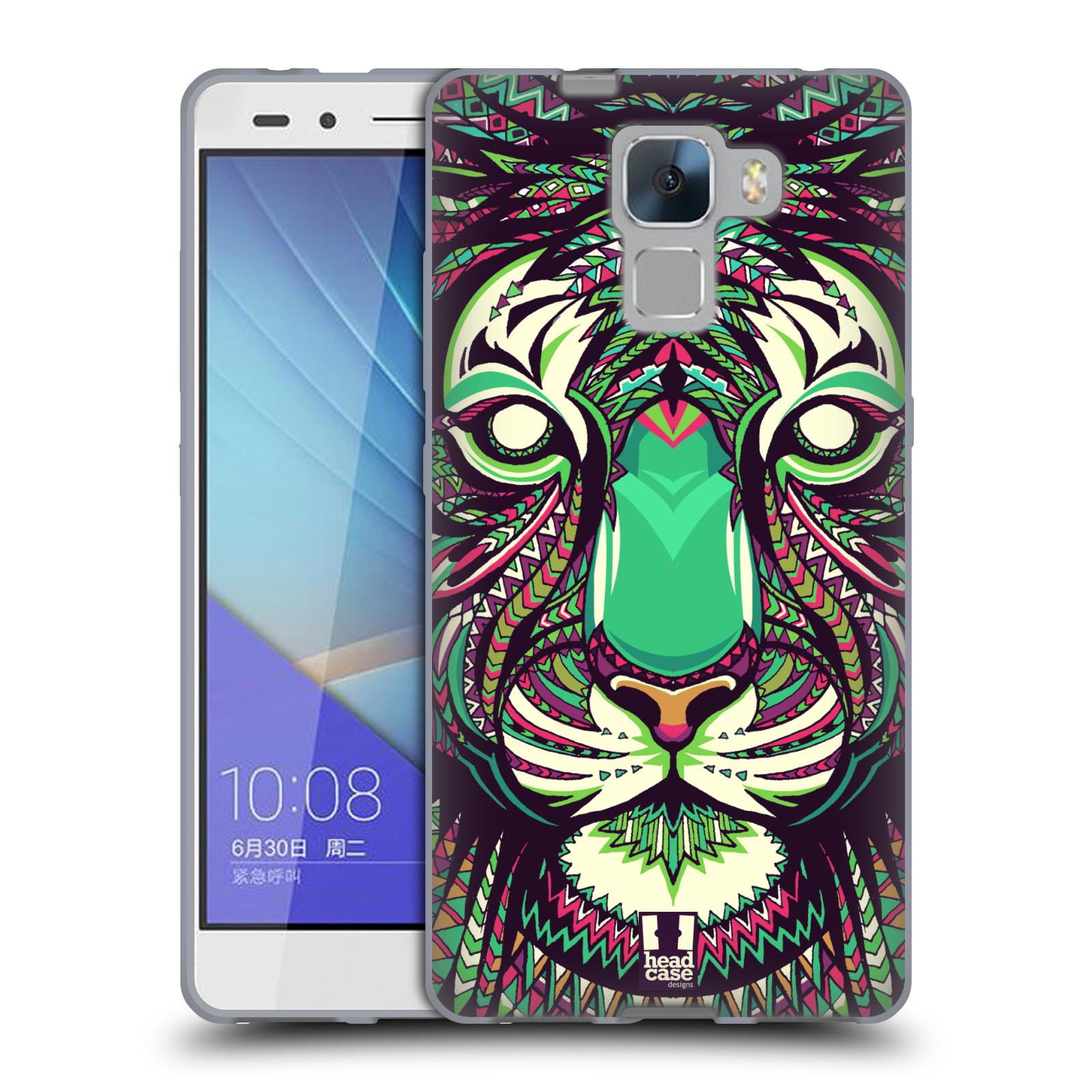 Silikonové pouzdro na mobil Honor 7 HEAD CASE AZTEC TYGR