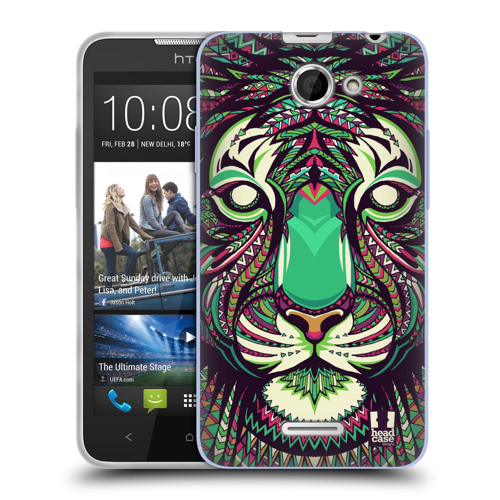 Silikonové pouzdro na mobil HTC Desire 516 HEAD CASE AZTEC TYGR (Silikonový kryt či obal na mobilní telefon HTC Desire 516 Dual SIM)