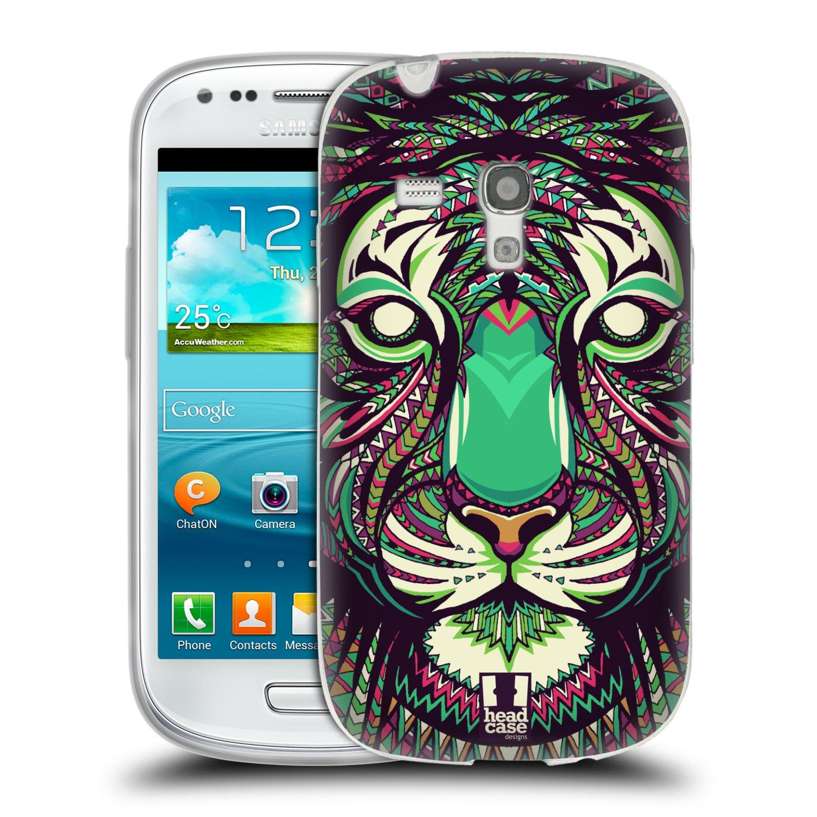 Silikonové pouzdro na mobil Samsung Galaxy S III Mini HEAD CASE AZTEC TYGR (Silikonový kryt či obal na mobilní telefon Samsung Galaxy S III Mini GT-i8190)