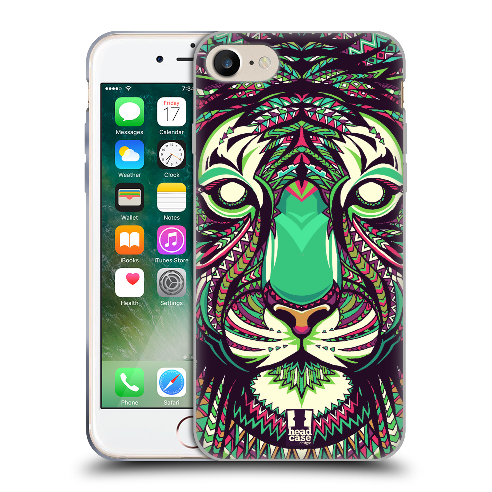 Silikonové pouzdro na mobil Apple iPhone 8 - Head Case - AZTEC TYGR