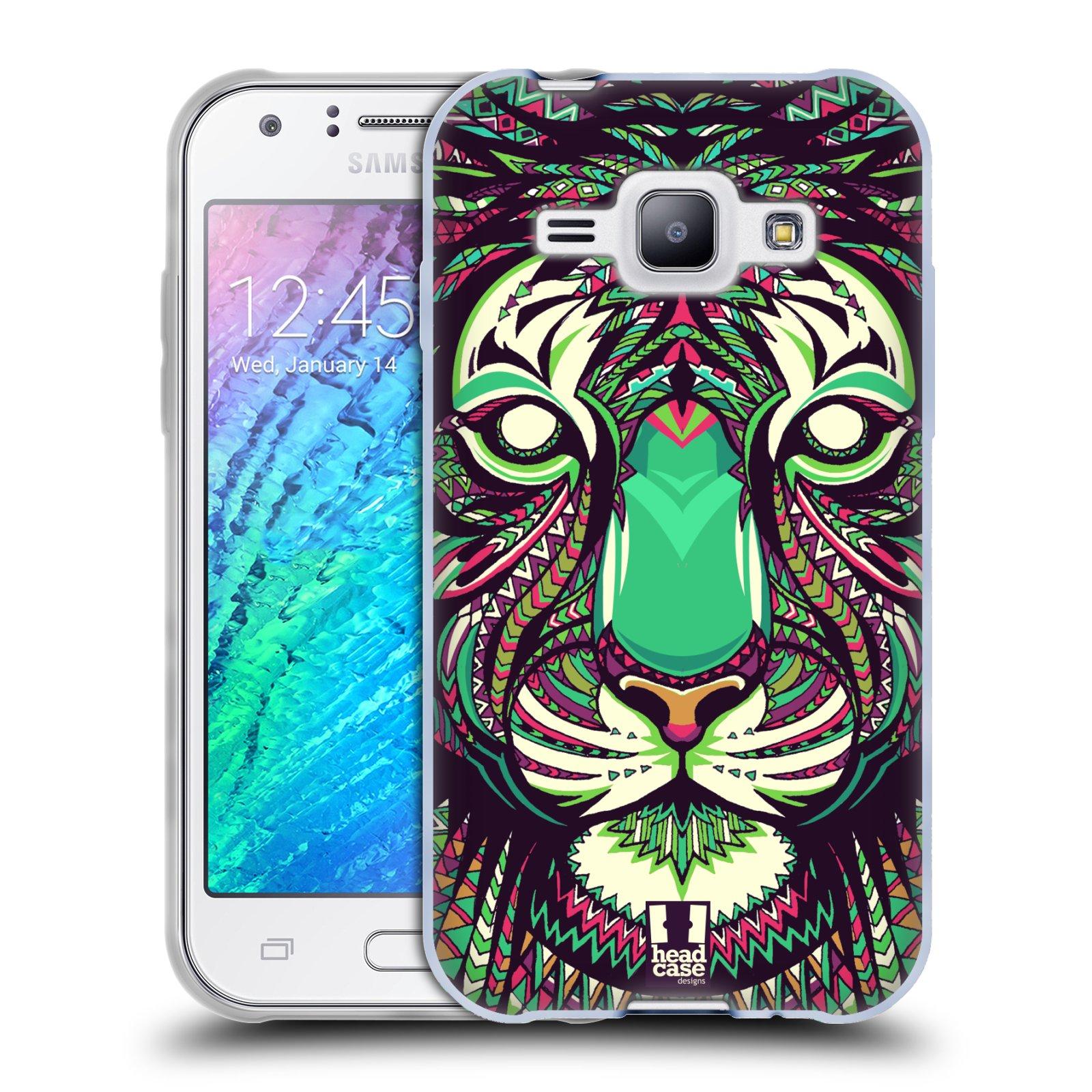 Silikonové pouzdro na mobil Samsung Galaxy J1 HEAD CASE AZTEC TYGR (Silikonový kryt či obal na mobilní telefon Samsung Galaxy J1 a J1 Duos)