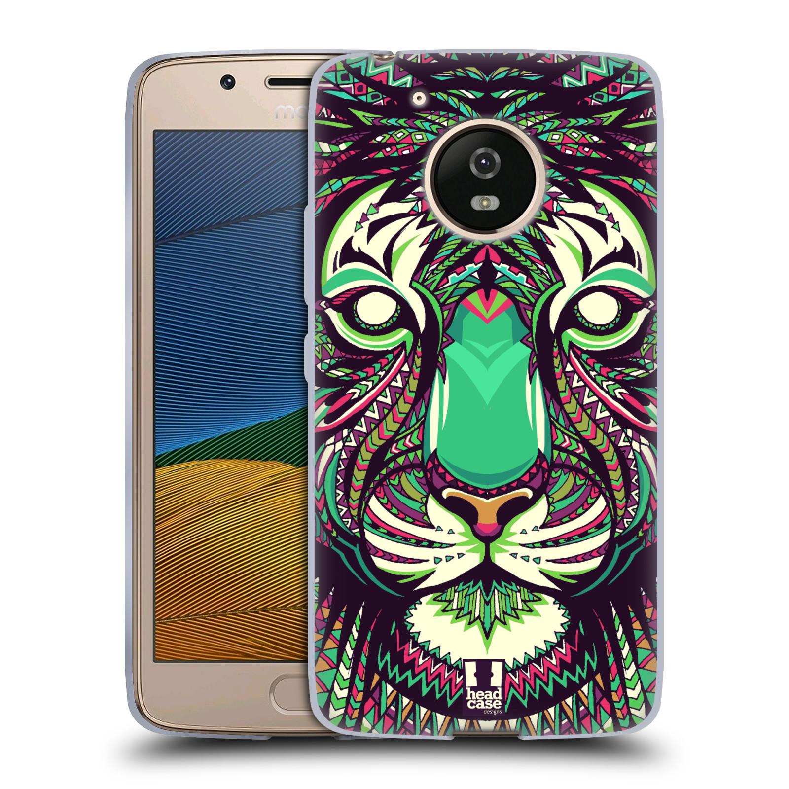 Silikonové pouzdro na mobil Lenovo Moto G5 - Head Case AZTEC TYGR