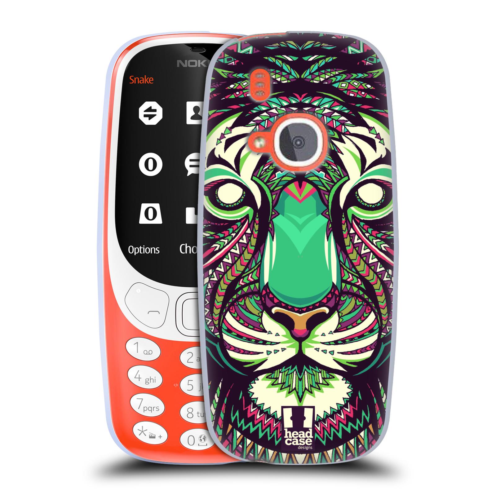 Silikonové pouzdro na mobil Nokia 3310 - Head Case - AZTEC TYGR
