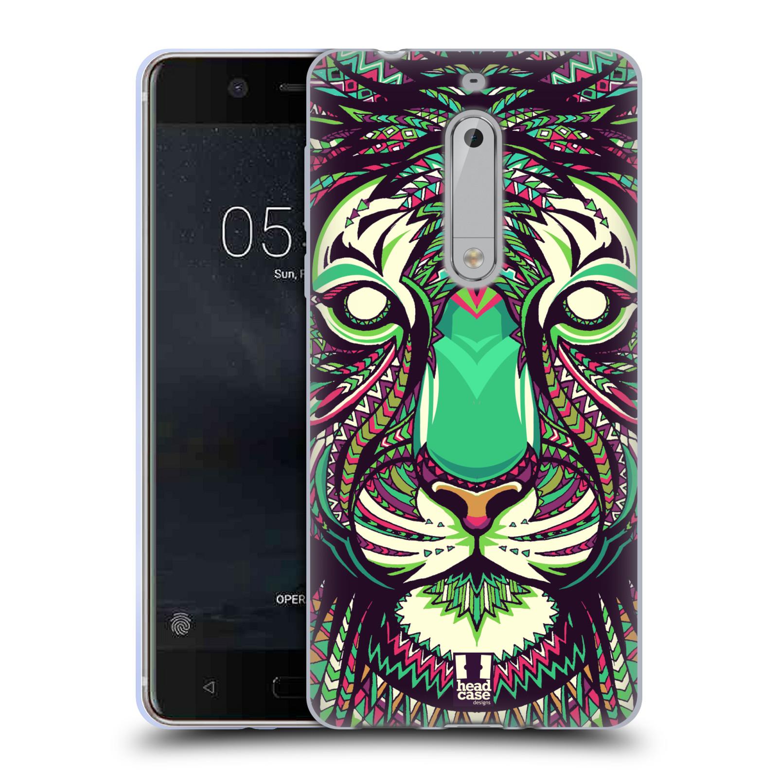 Silikonové pouzdro na mobil Nokia 5 Head Case - AZTEC TYGR