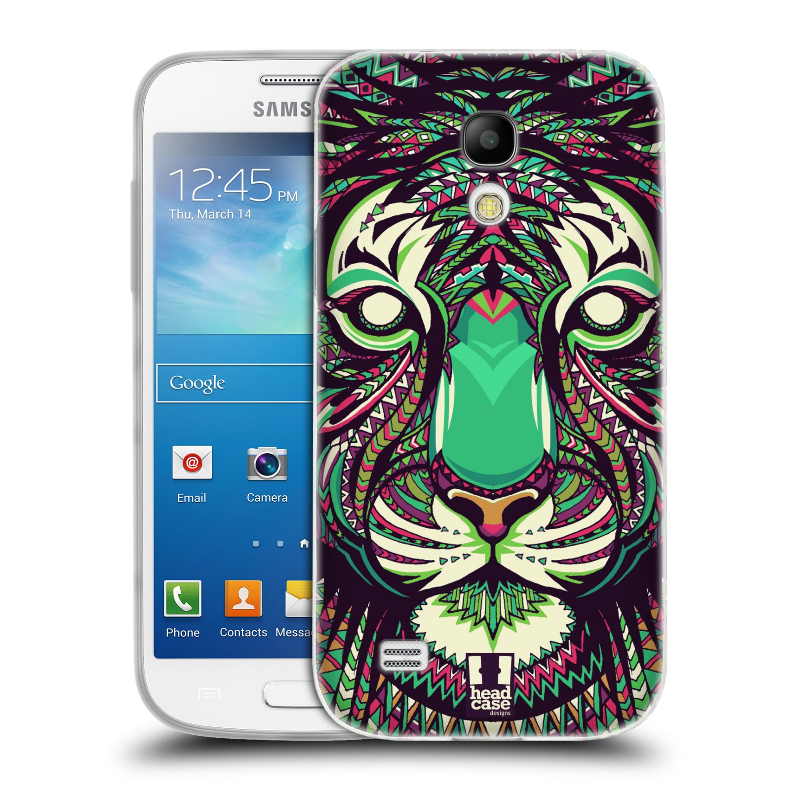 Silikonové pouzdro na mobil Samsung Galaxy S4 Mini HEAD CASE AZTEC TYGR