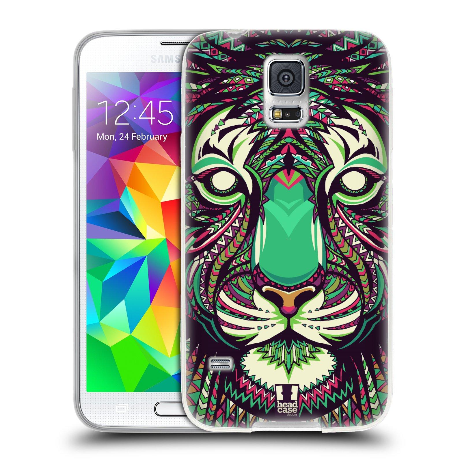 Silikonové pouzdro na mobil Samsung Galaxy S5 HEAD CASE AZTEC TYGR
