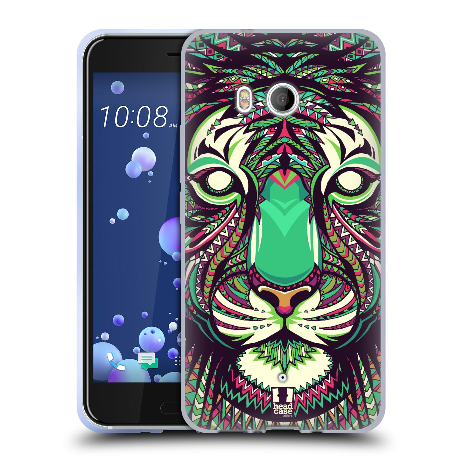 Silikonové pouzdro na mobil HTC U11 - Head Case - AZTEC TYGR