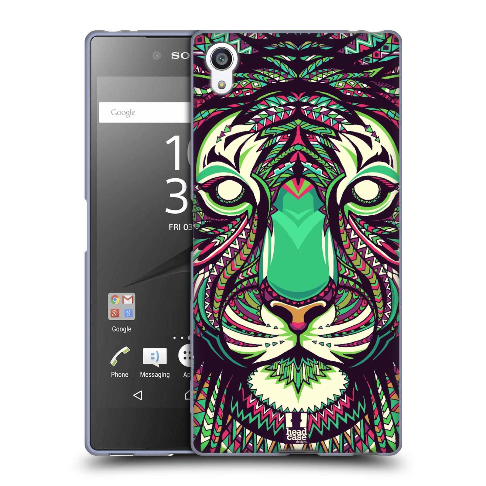 Silikonové pouzdro na mobil Sony Xperia Z5 Premium HEAD CASE AZTEC TYGR