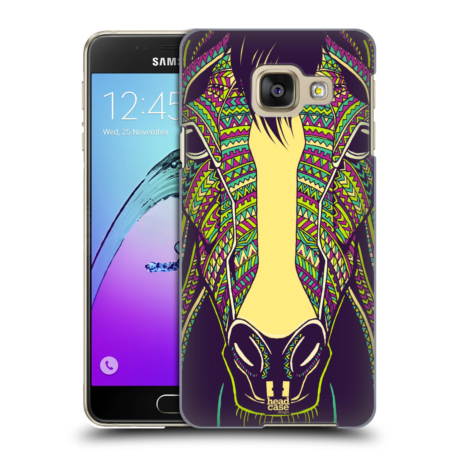 Plastové pouzdro na mobil Samsung Galaxy A3 (2016) HEAD CASE AZTEC KŮŇ