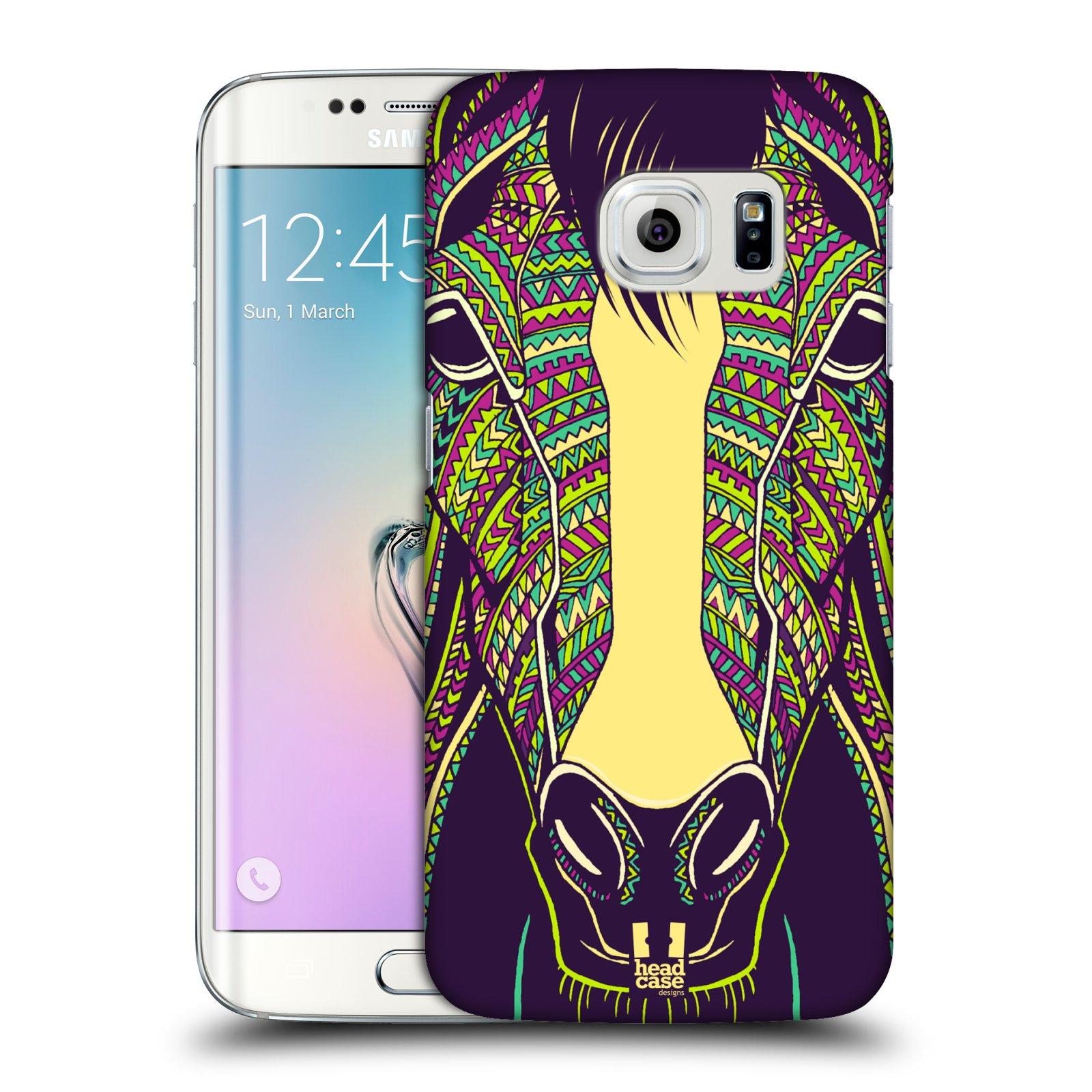 Plastové pouzdro na mobil Samsung Galaxy S6 Edge HEAD CASE AZTEC KŮŇ (Kryt či obal na mobilní telefon Samsung Galaxy S6 Edge SM-G925F)