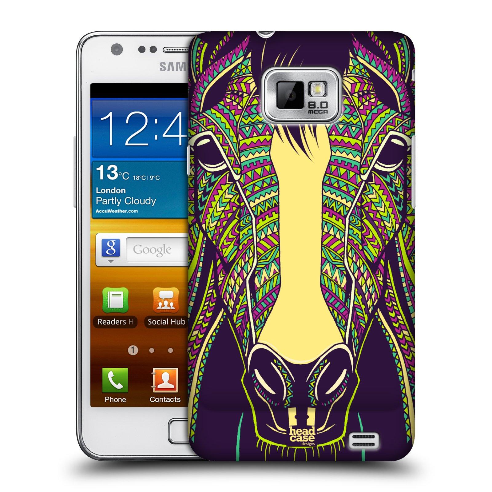 Plastové pouzdro na mobil Samsung Galaxy S II HEAD CASE AZTEC KŮŇ (Kryt či obal na mobilní telefon Samsung Galaxy S II GT-i9100)