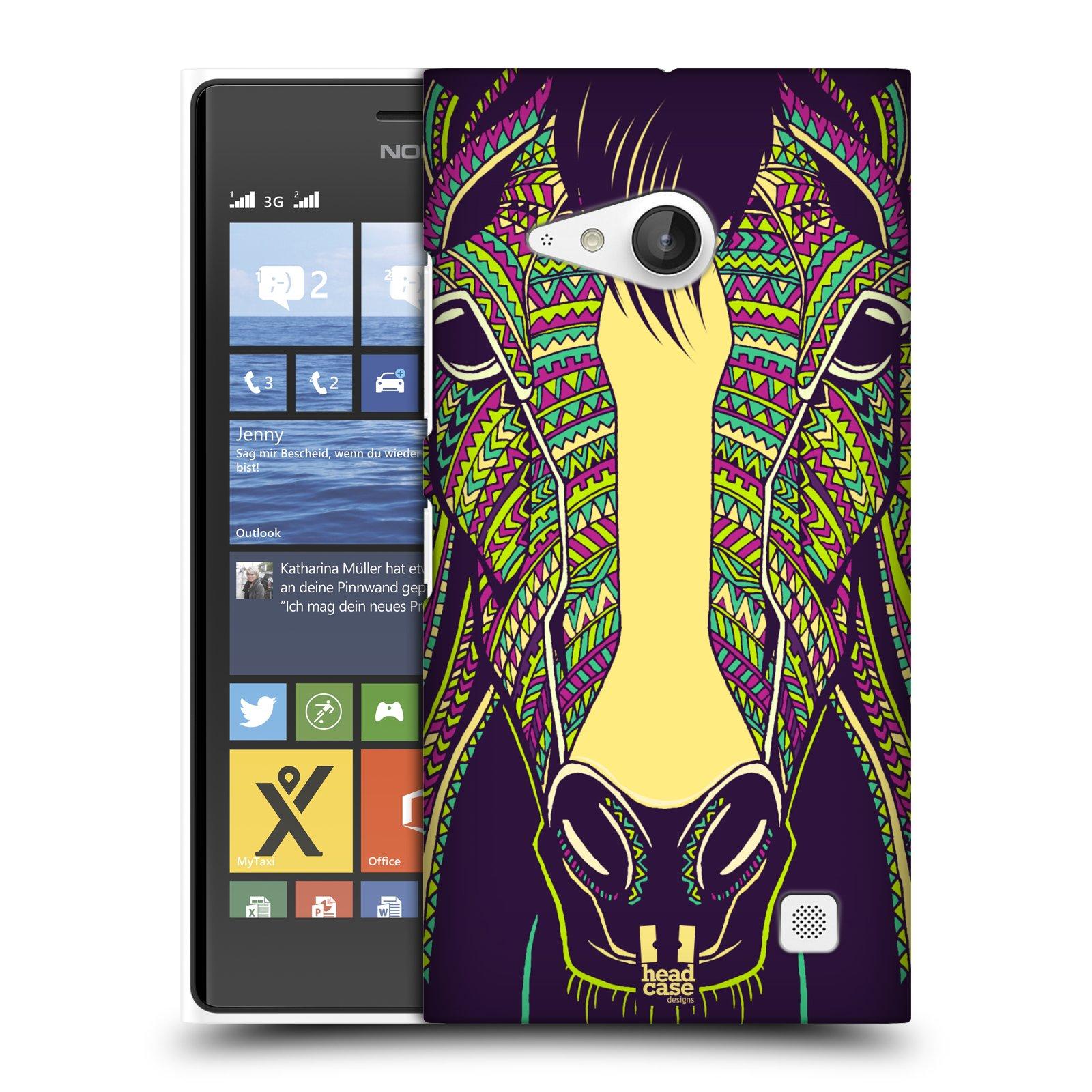 Plastové pouzdro na mobil Nokia Lumia 730 Dual SIM HEAD CASE AZTEC KŮŇ