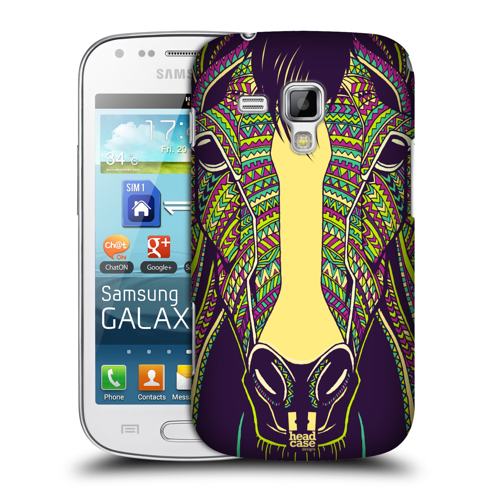 Plastové pouzdro na mobil Samsung Galaxy Trend Plus HEAD CASE AZTEC KŮŇ