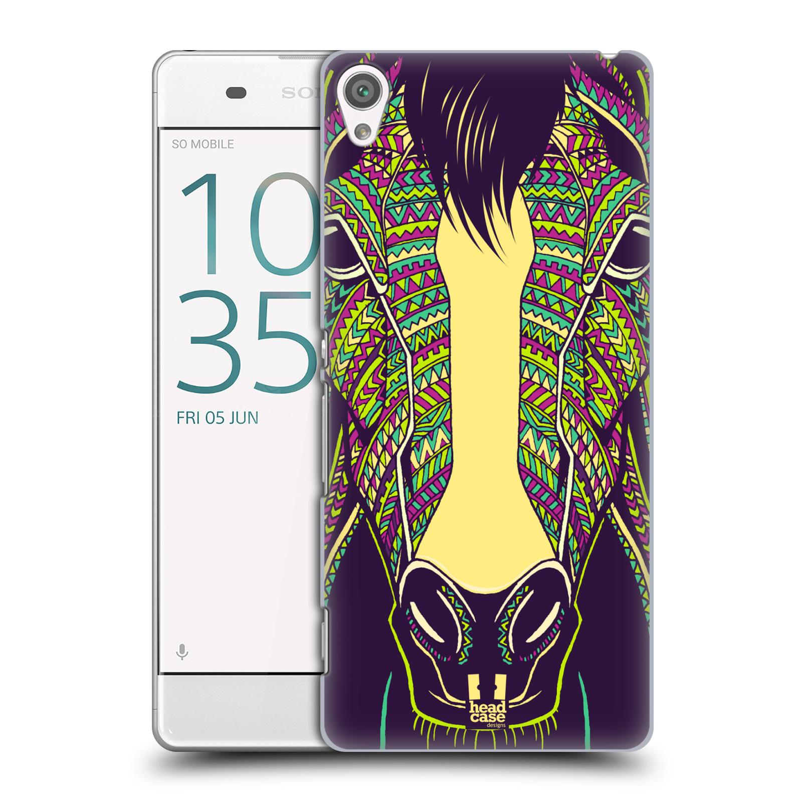 Plastové pouzdro na mobil Sony Xperia XA HEAD CASE AZTEC KŮŇ
