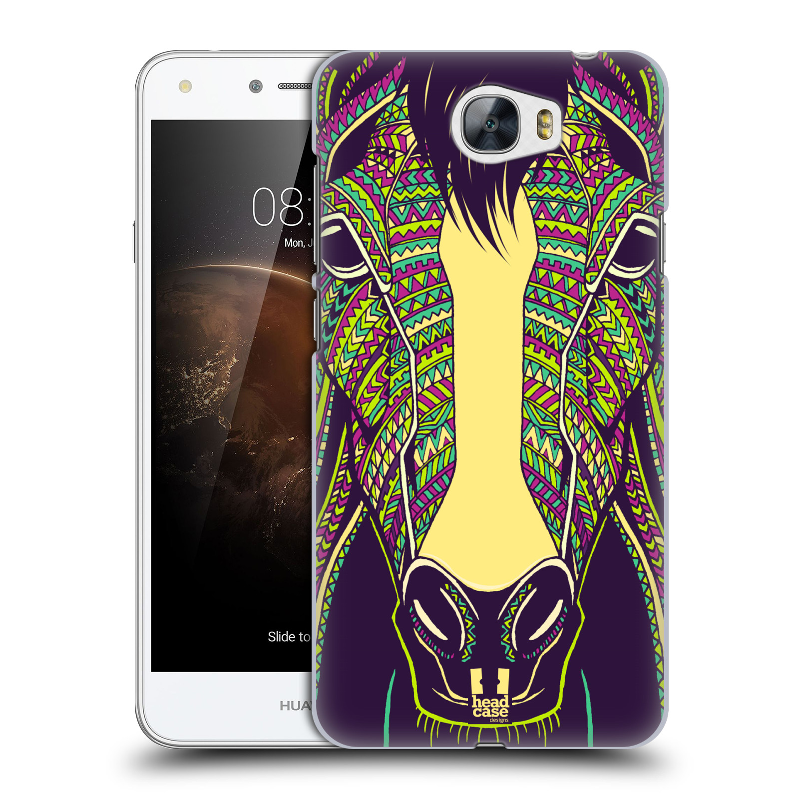 Plastové pouzdro na mobil Huawei Y5 II HEAD CASE AZTEC KŮŇ