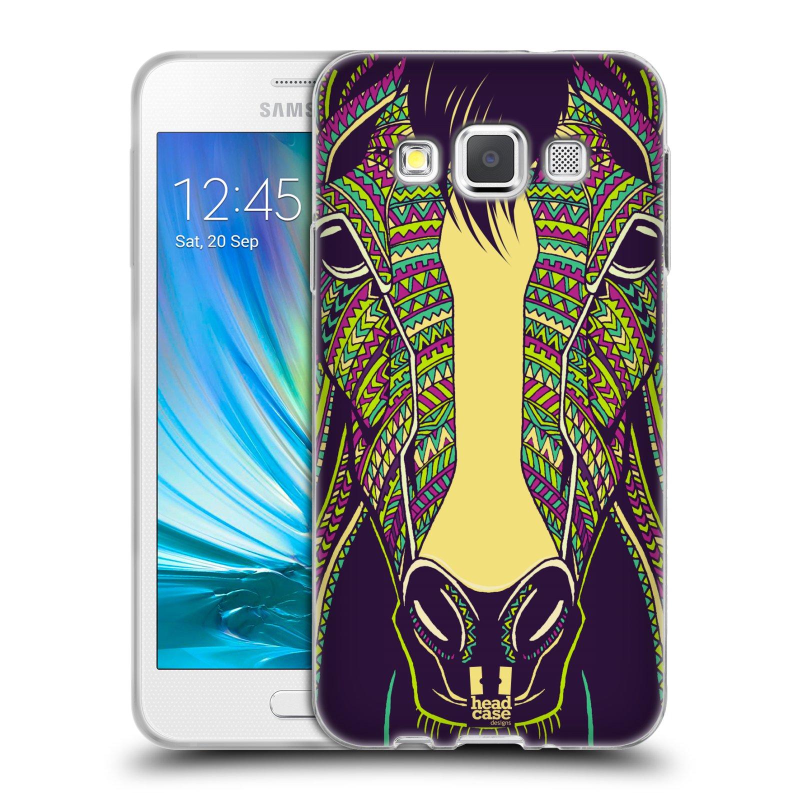 Silikonové pouzdro na mobil Samsung Galaxy A3 HEAD CASE AZTEC KŮŇ