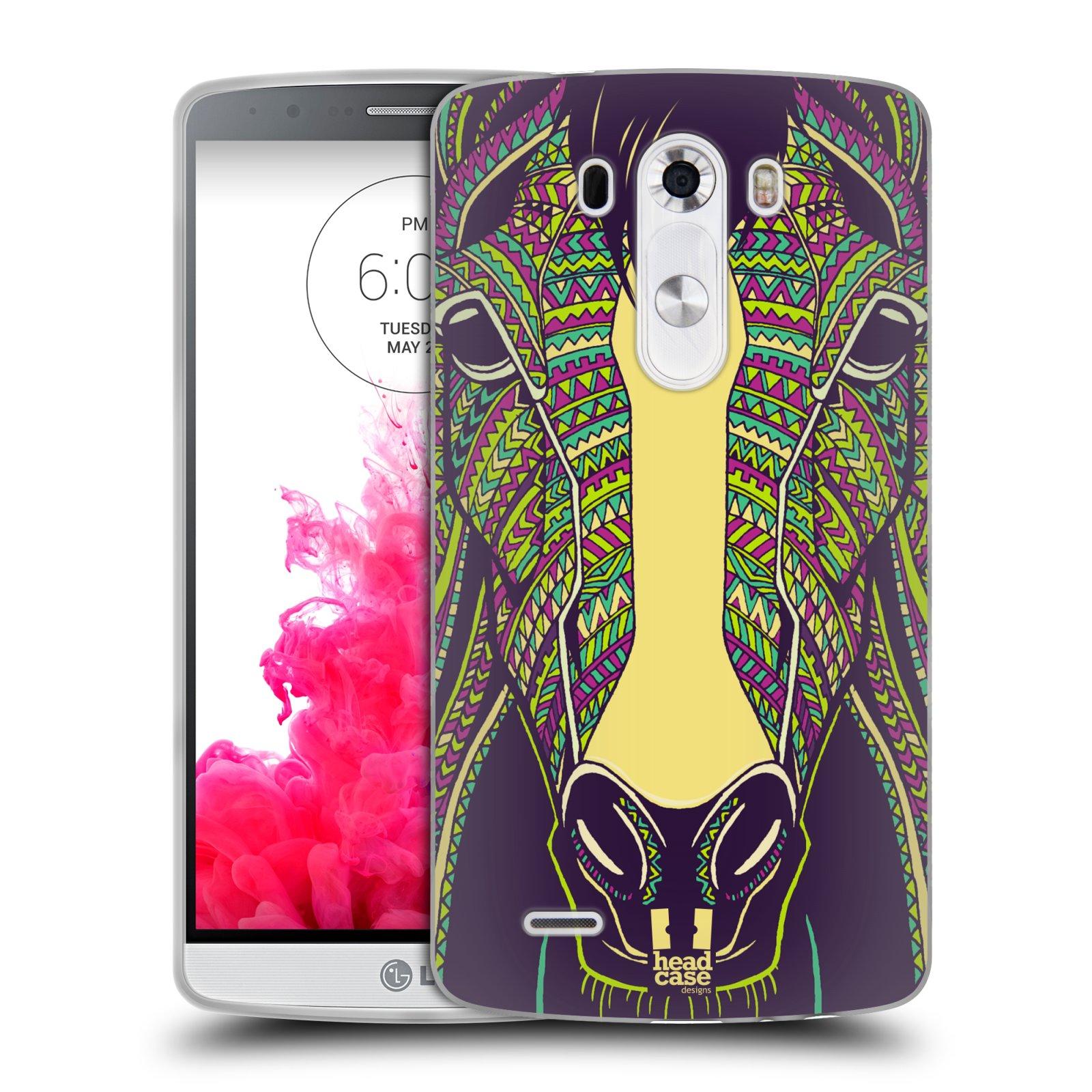 Silikonové pouzdro na mobil LG G3 HEAD CASE AZTEC KŮŇ (Silikonový kryt či obal na mobilní telefon LG G3 D855)