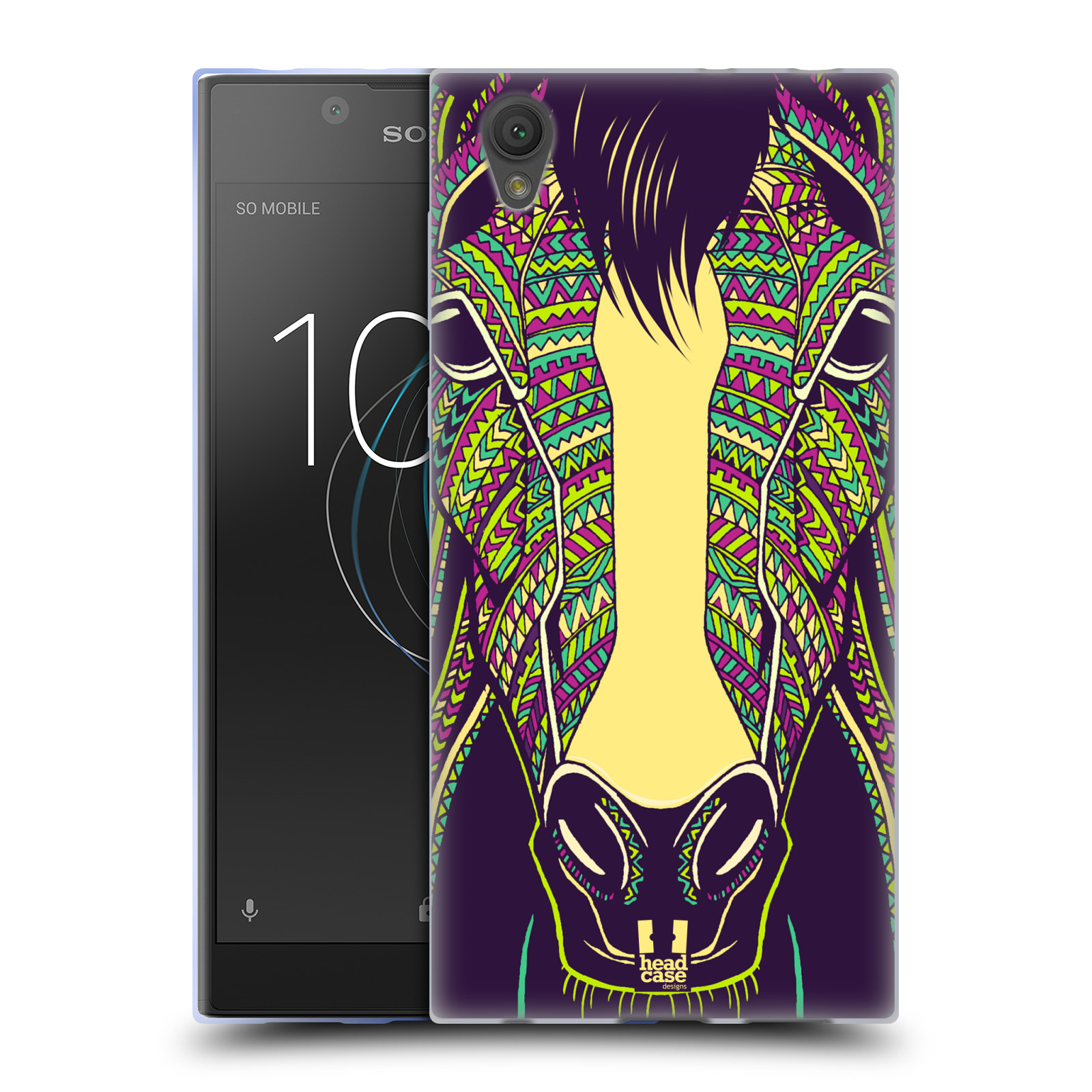 Silikonové pouzdro na mobil Sony Xperia L1 - Head Case - AZTEC KŮŇ