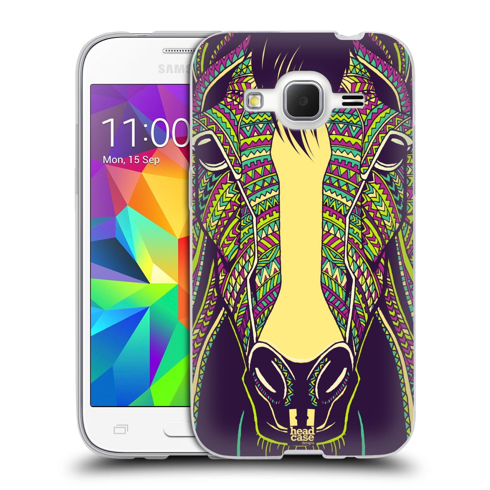 Silikonové pouzdro na mobil Samsung Galaxy Core Prime LTE HEAD CASE AZTEC KŮŇ (Silikonový kryt či obal na mobilní telefon Samsung Galaxy Core Prime LTE SM-G360)