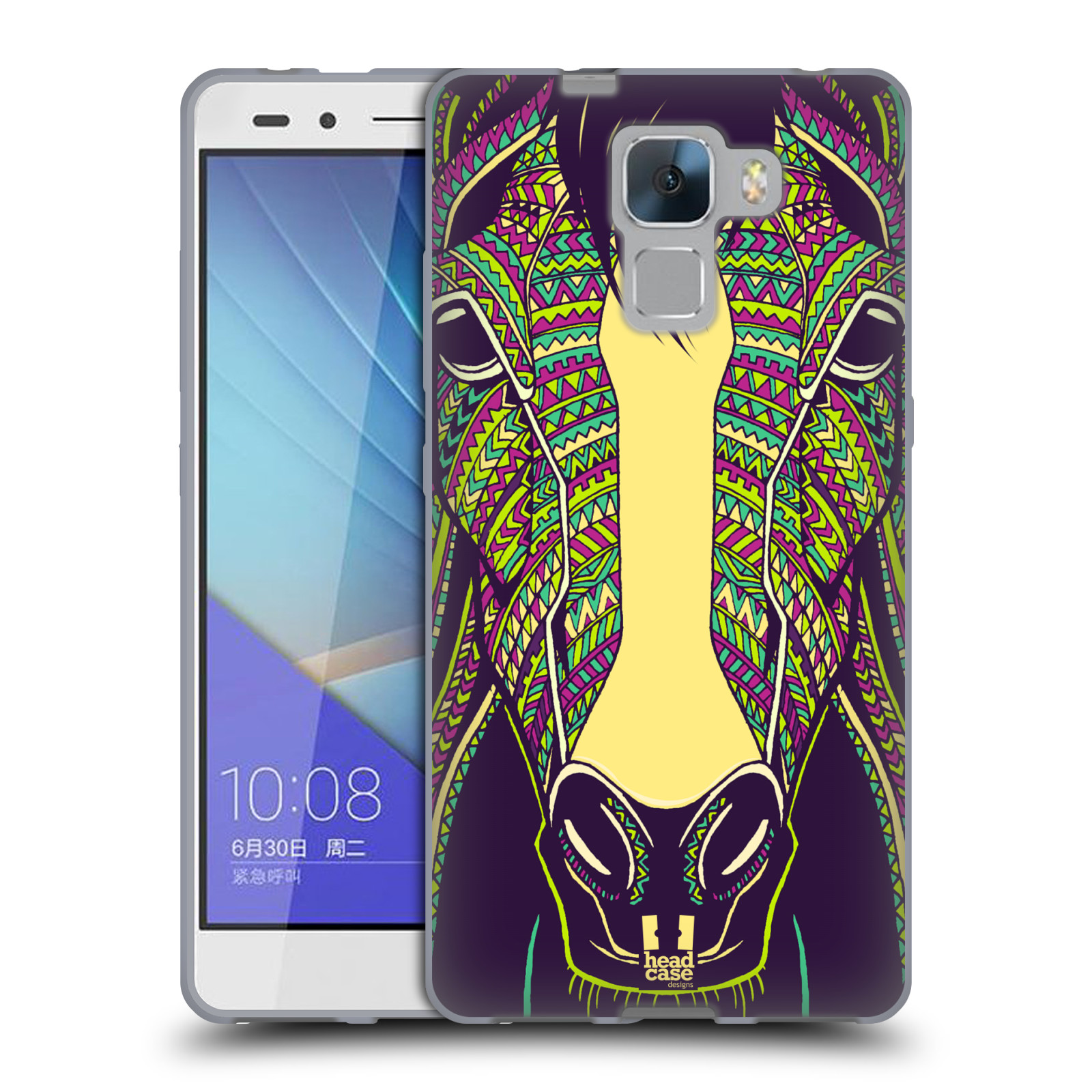 Silikonové pouzdro na mobil Honor 7 HEAD CASE AZTEC KŮŇ