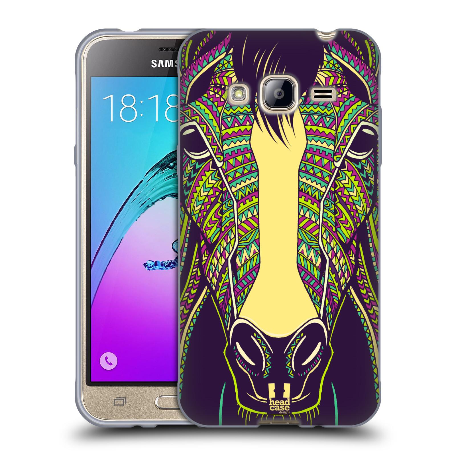 Silikonové pouzdro na mobil Samsung Galaxy J3 (2016) HEAD CASE AZTEC KŮŇ