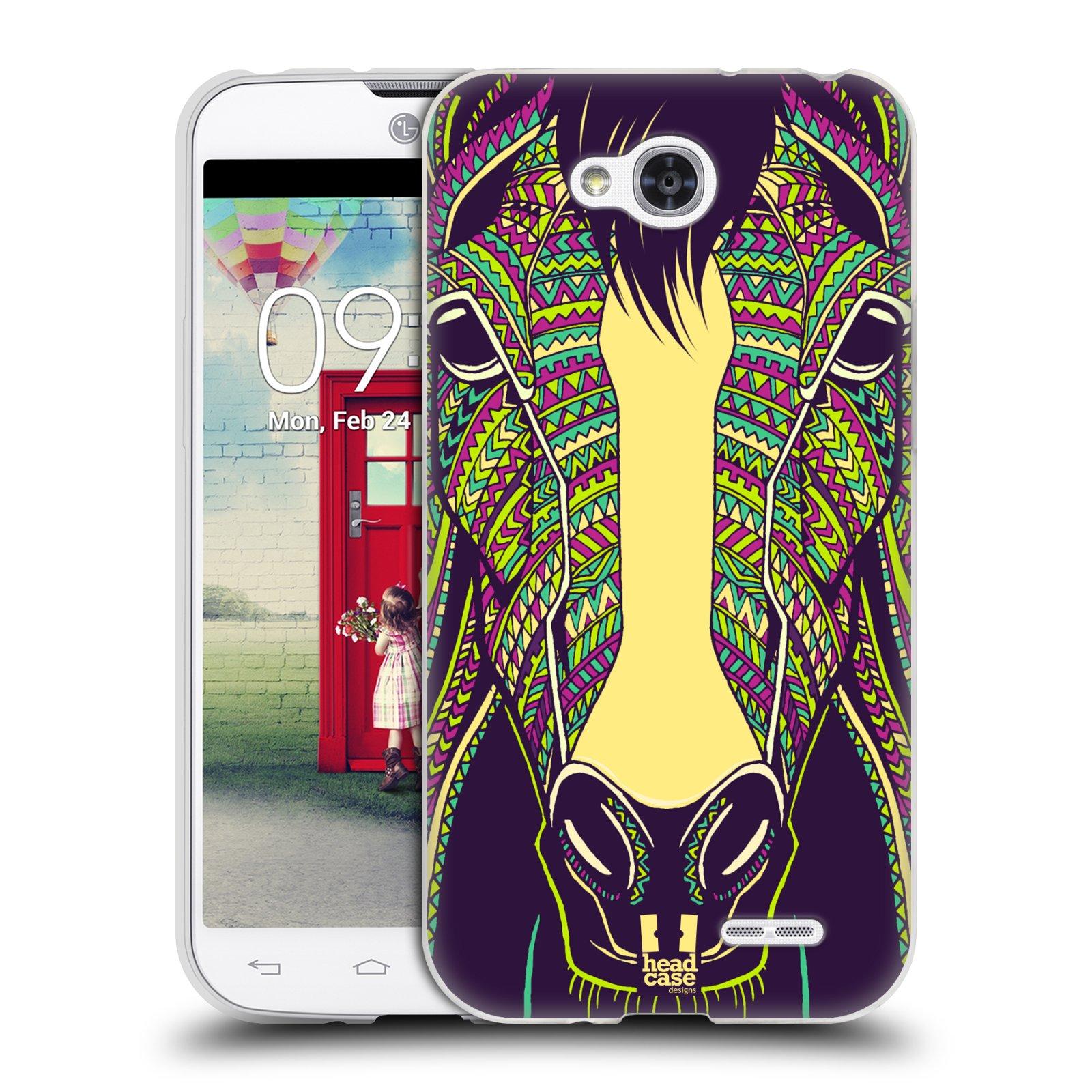 Silikonové pouzdro na mobil LG L90 HEAD CASE AZTEC KŮŇ (Silikonový kryt či obal na mobilní telefon LG L90 D405n)
