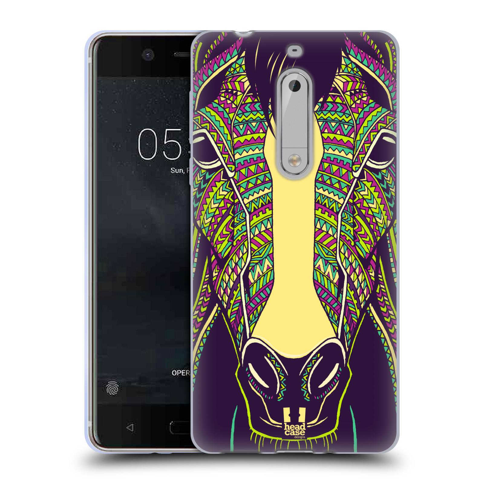 Silikonové pouzdro na mobil Nokia 5 Head Case - AZTEC KŮŇ